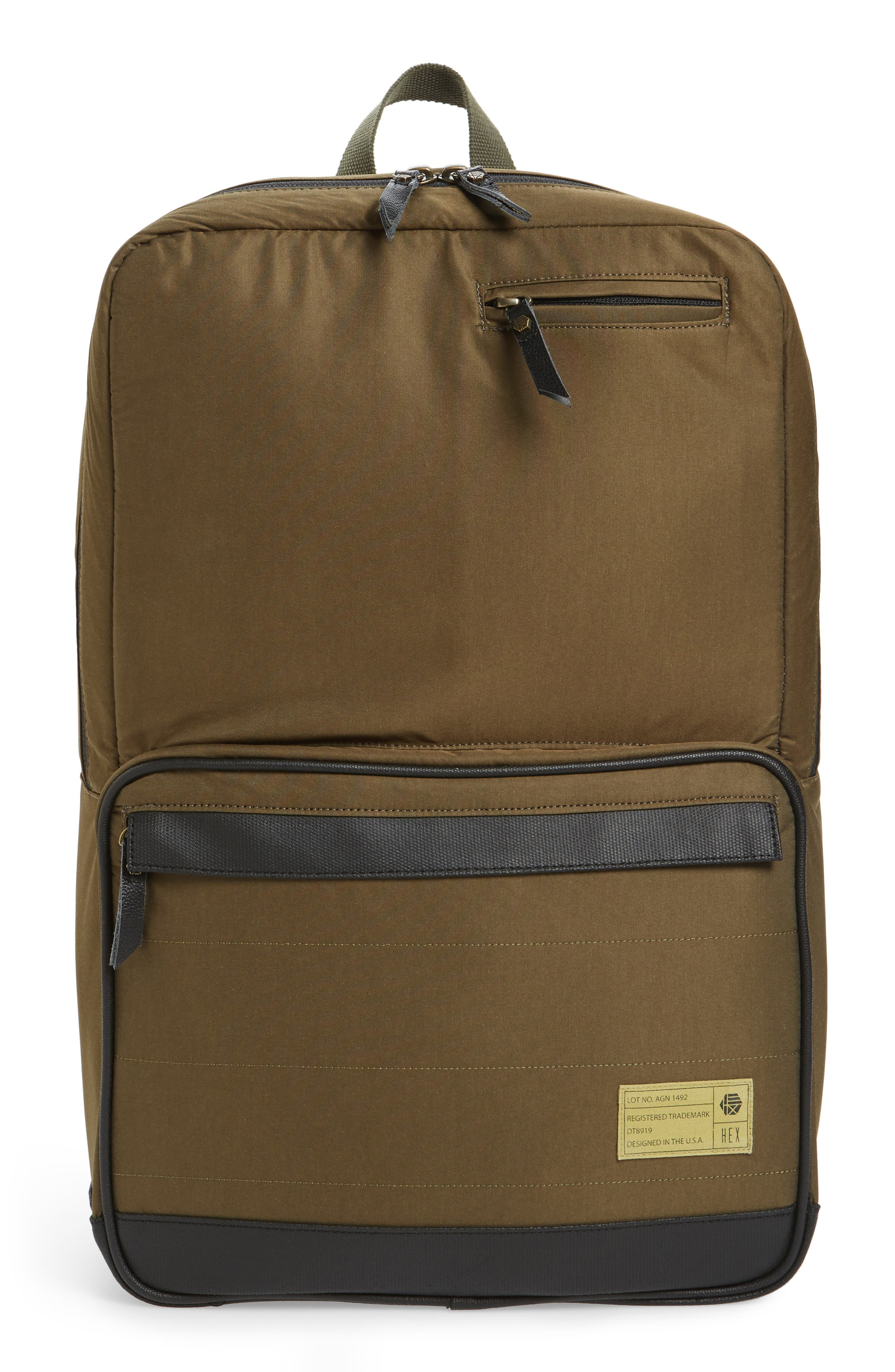 Alternate Image 1 Selected - HEX Radar Origin Water Resistant Commuter/Travel Laptop Backpack