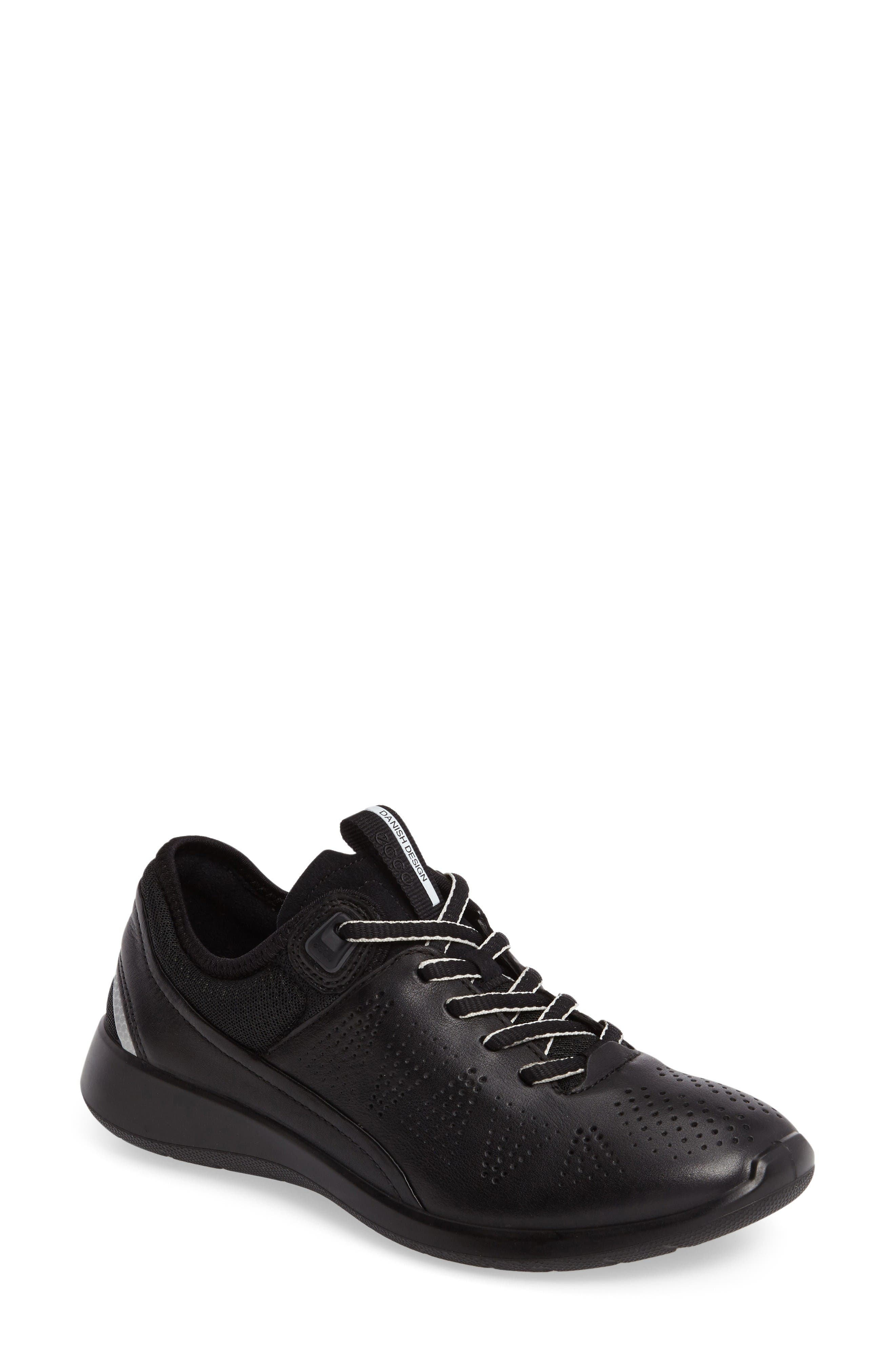 Soft 5 Sneaker,                         Main,                         color, Black Leather