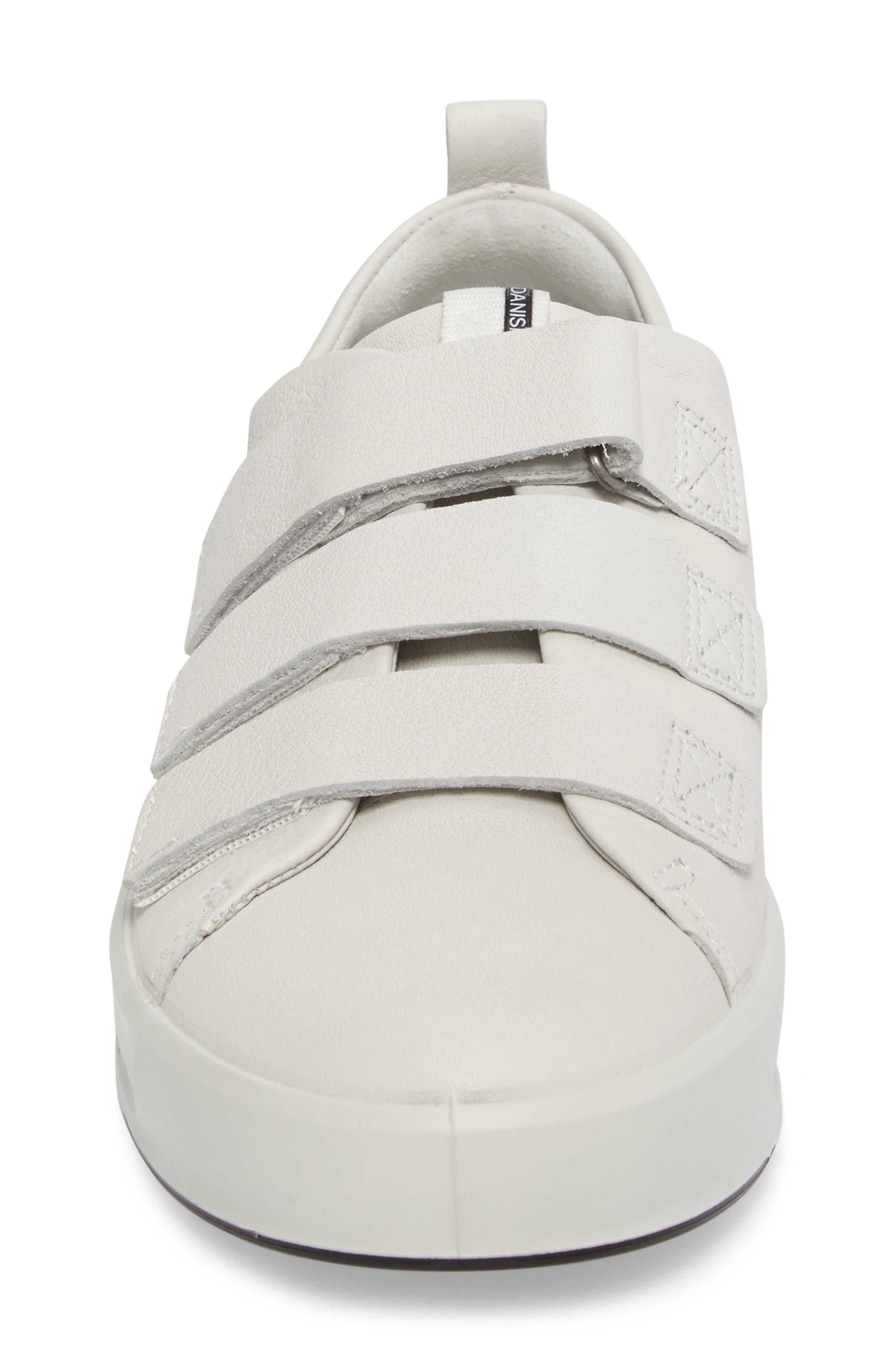 Soft 8 Sneaker,                             Alternate thumbnail 4, color,                             White Leather