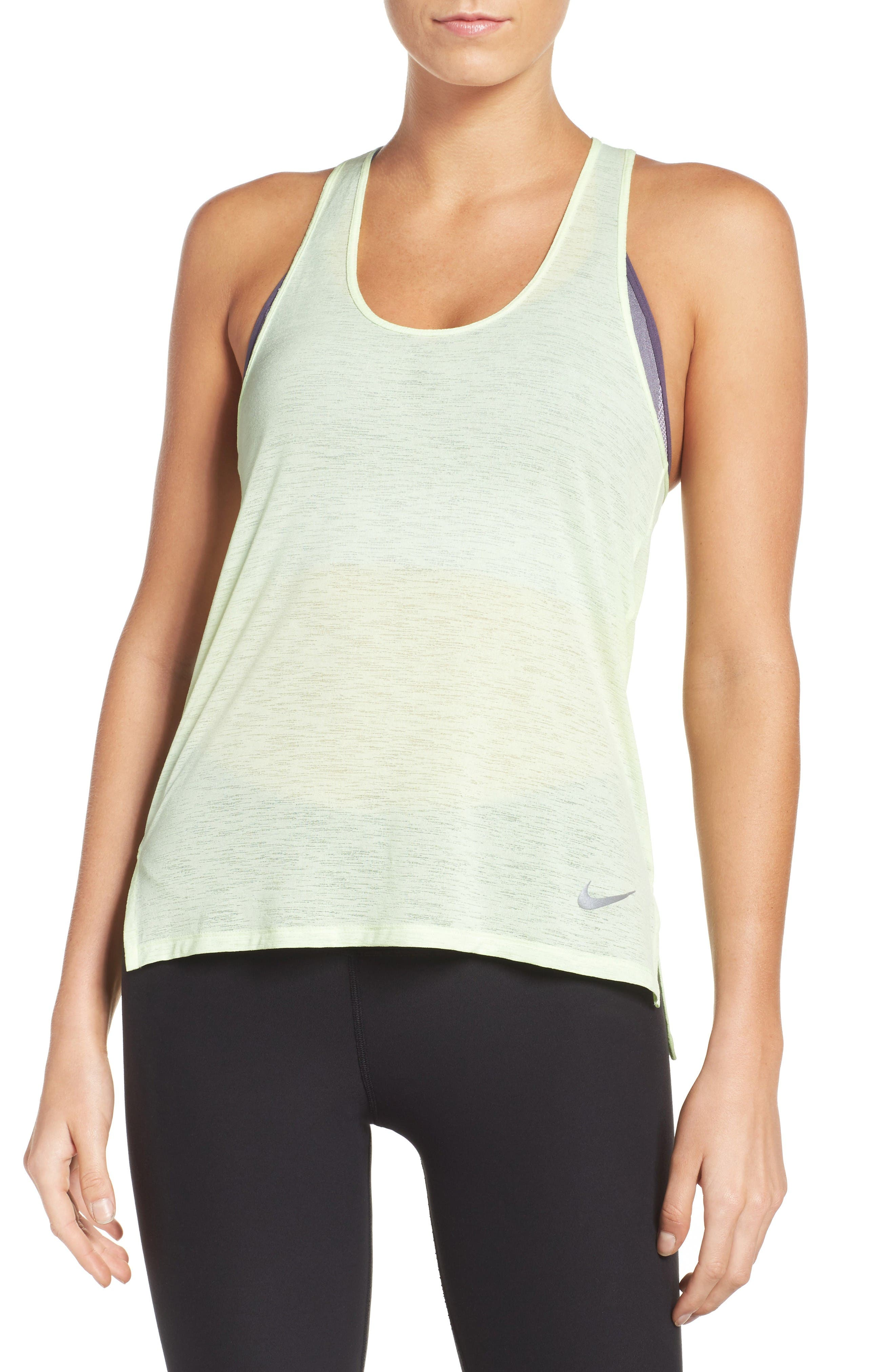 Breathe Cool Running Tank,                         Main,                         color, Barely Volt