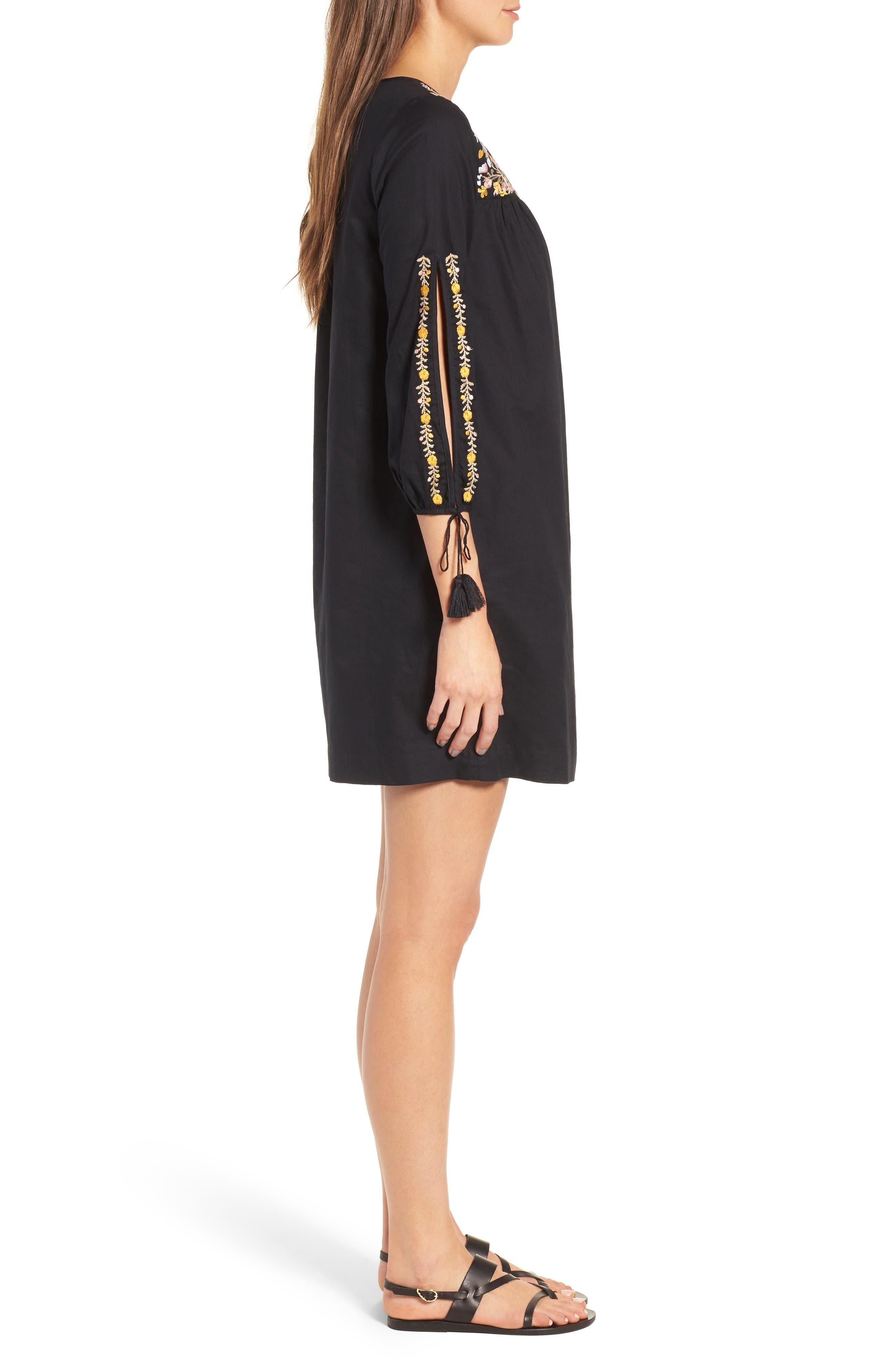 Alternate Image 3  - Madewell Embroidered Slit Sleeve Dress