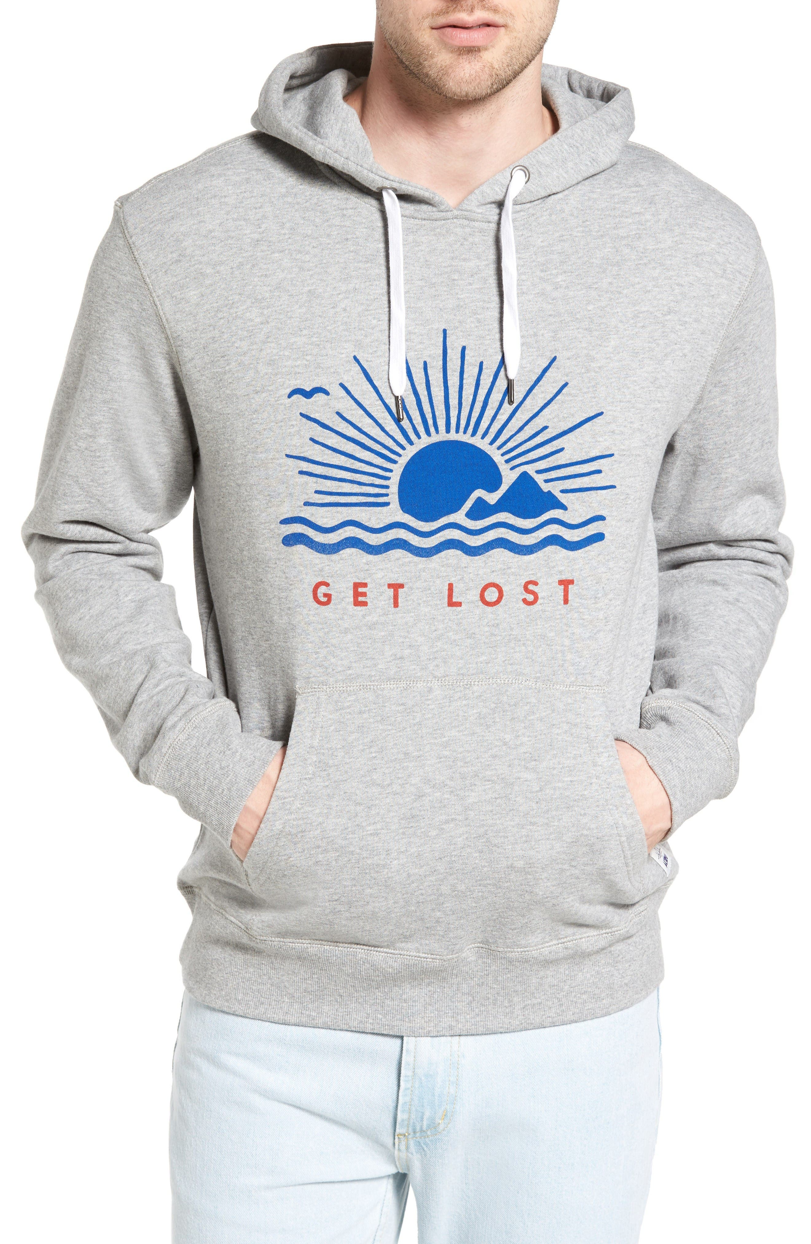 Get Lost French Terry Hoodie,                         Main,                         color, Gray