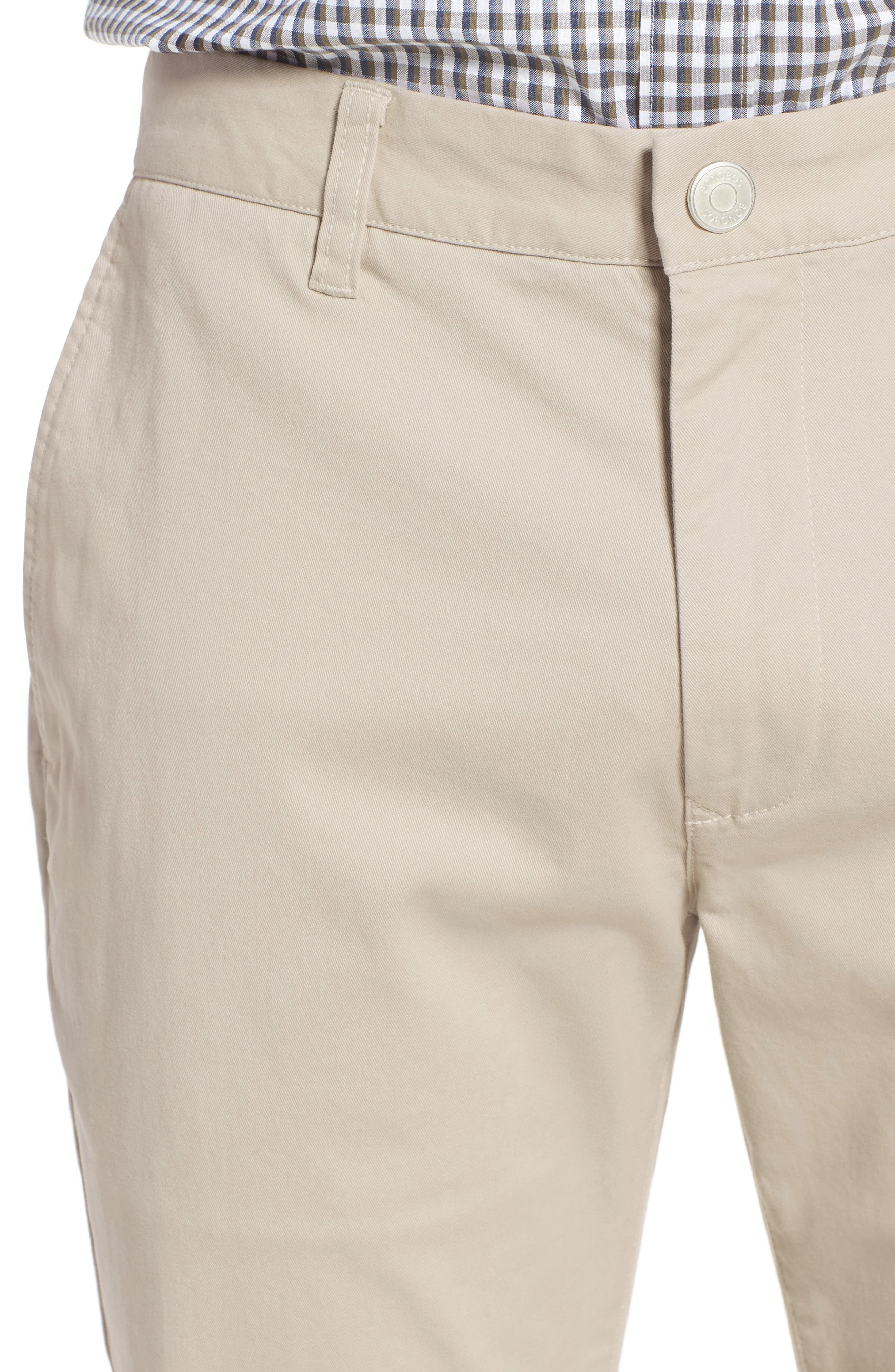 Tailored Fit Washed Stretch Cotton Chinos,                             Alternate thumbnail 4, color,                             Millstones
