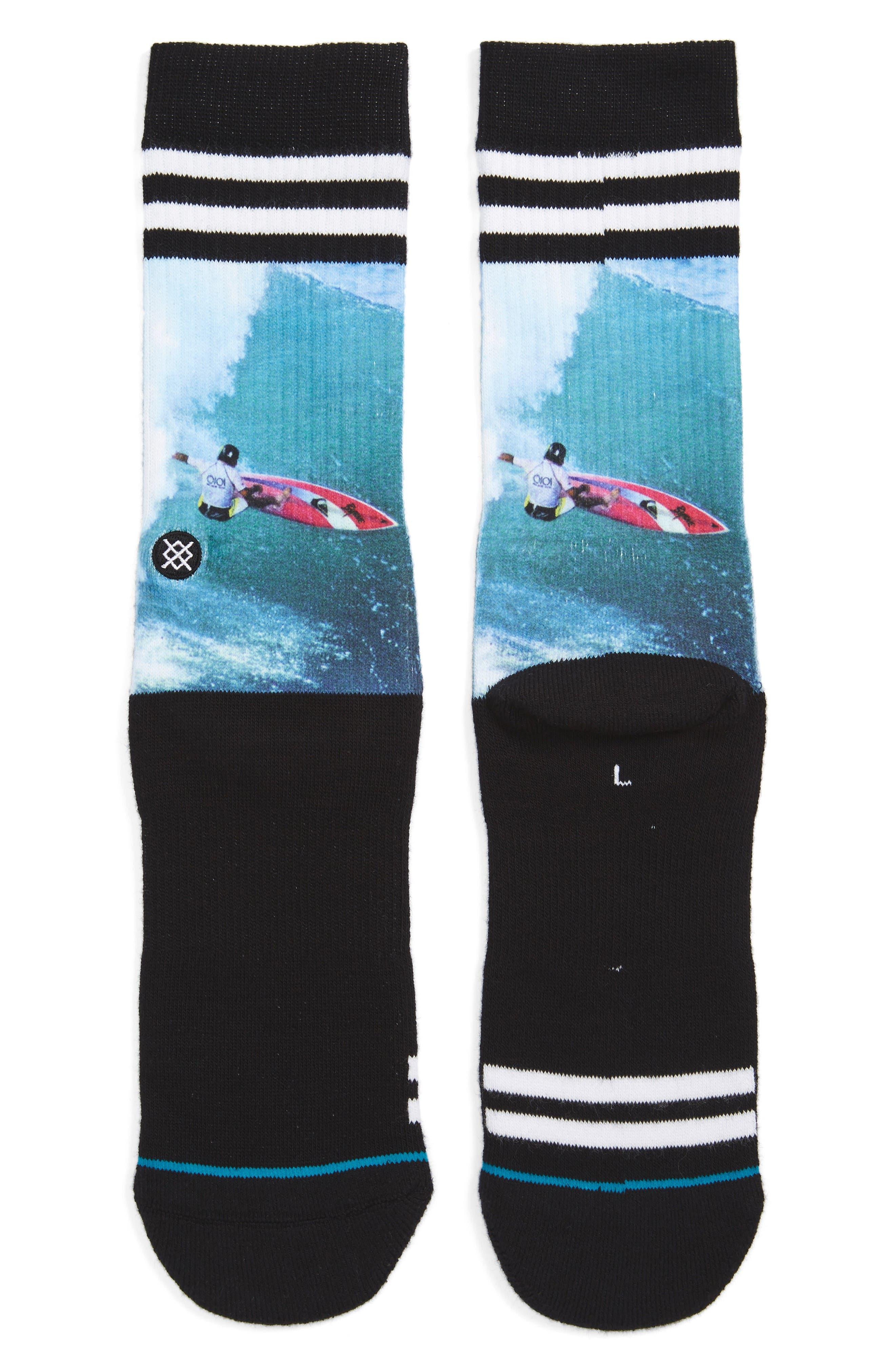 Carroll Surf Legend Socks,                         Main,                         color, Black
