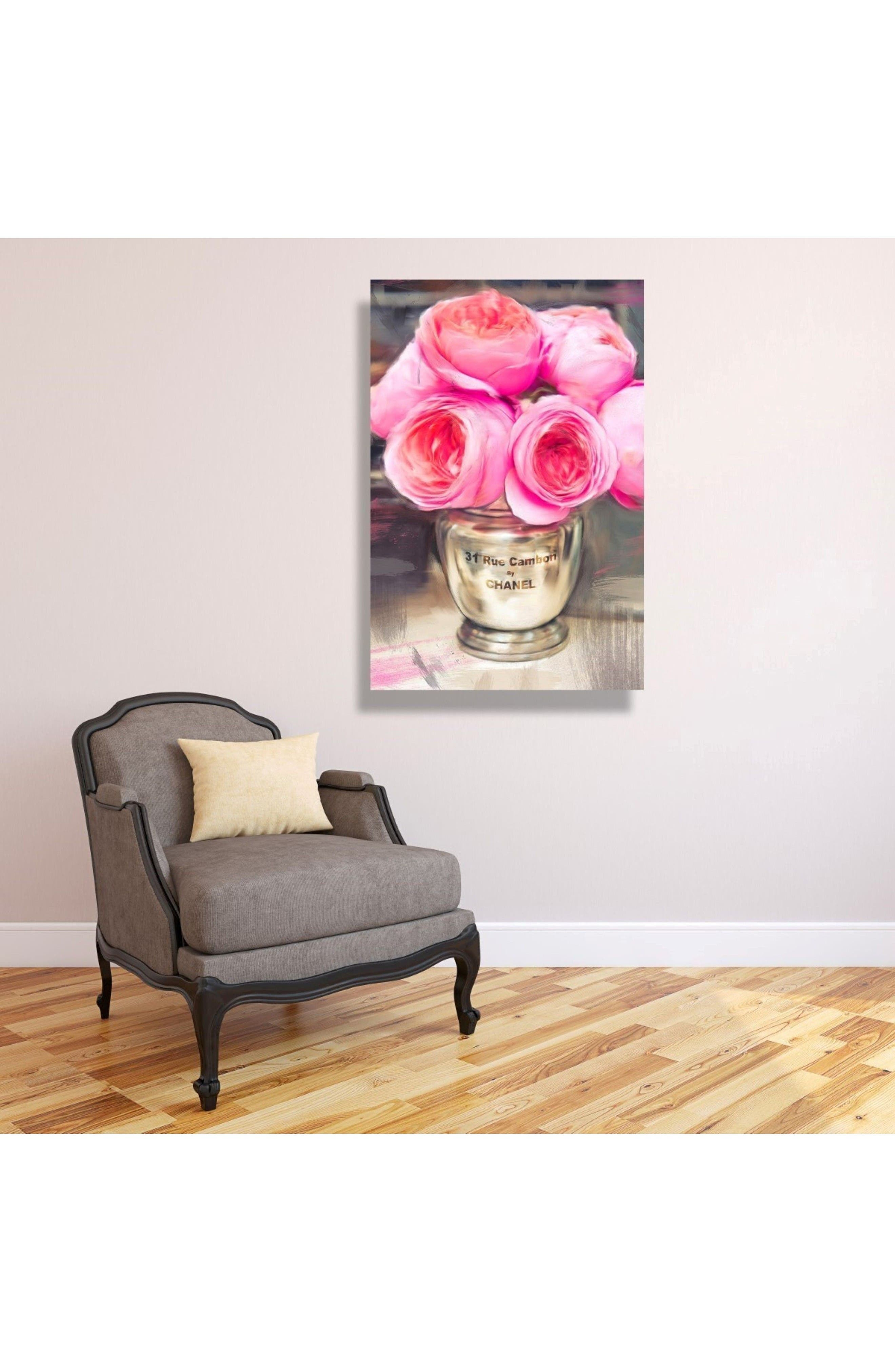 Rue Cambon Canvas Wall Art,                             Alternate thumbnail 2, color,                             Pink