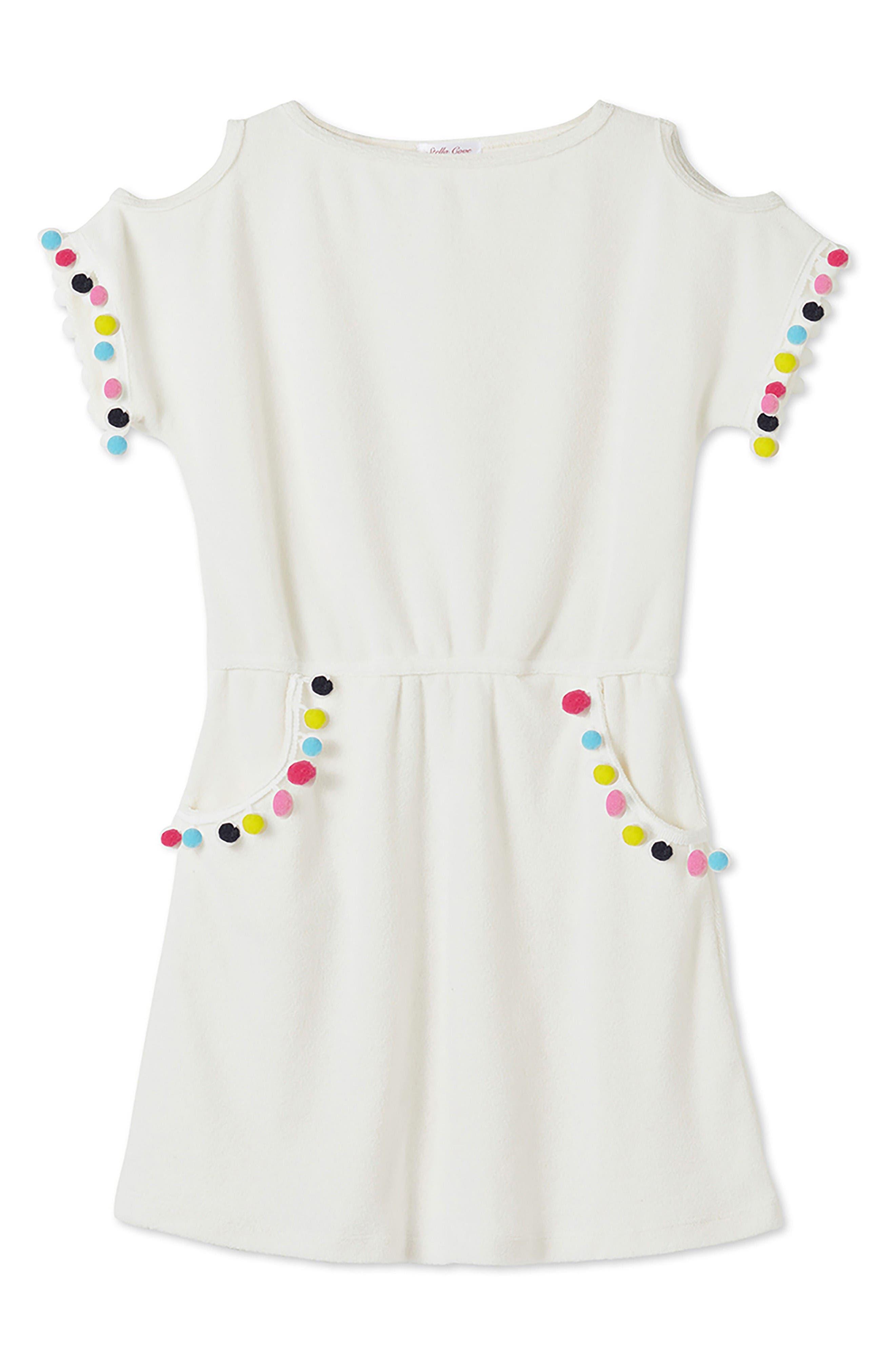 Alternate Image 1 Selected - Stella Cove Pompom Dress (Toddler Girls, Little Girls & Big Girls)
