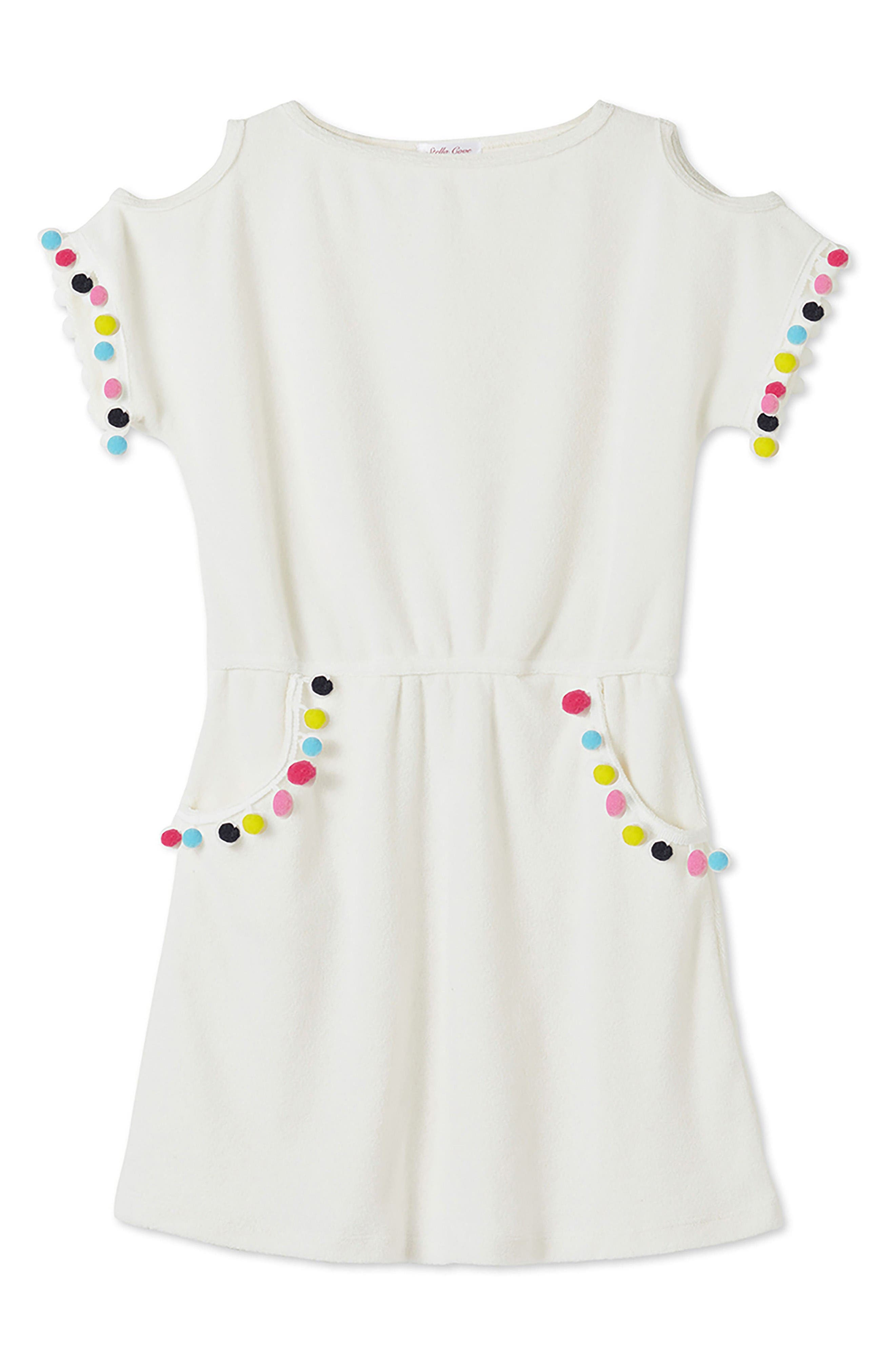 Main Image - Stella Cove Pompom Dress (Toddler Girls, Little Girls & Big Girls)