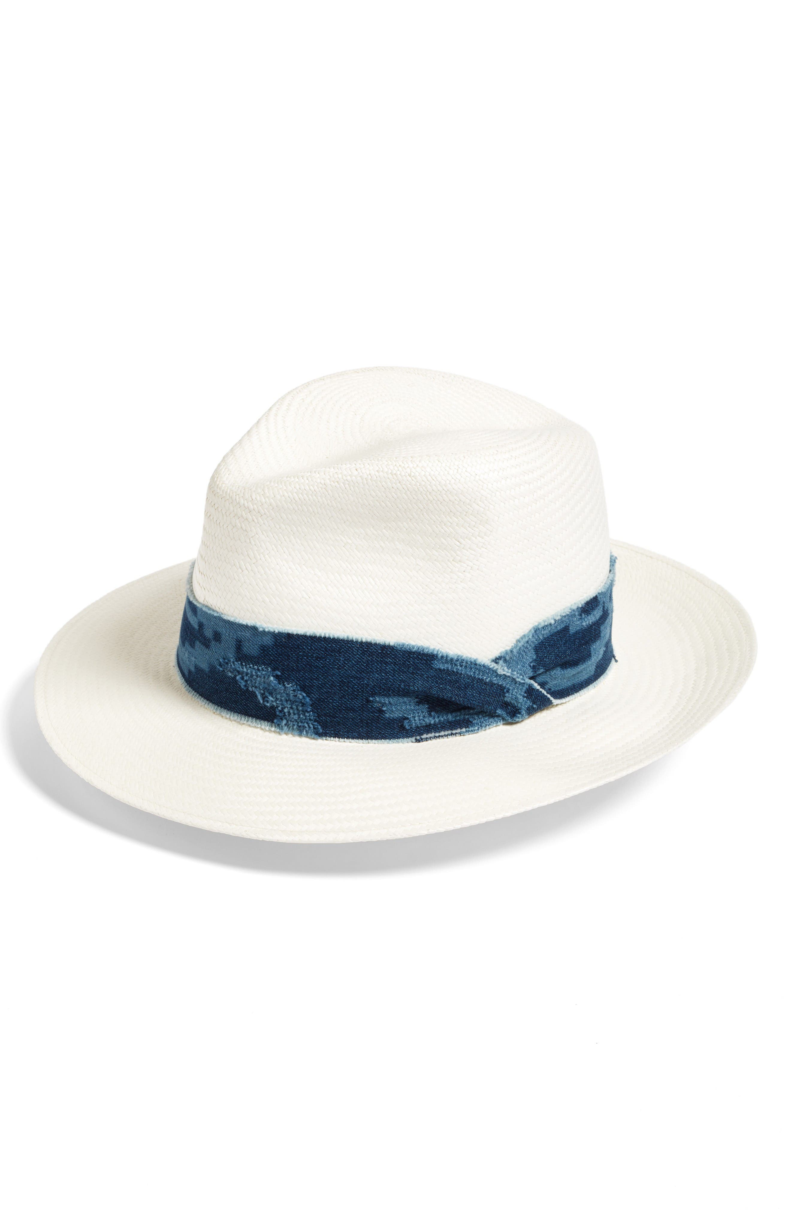 Alternate Image 1 Selected - rag & bone Straw Panama Hat