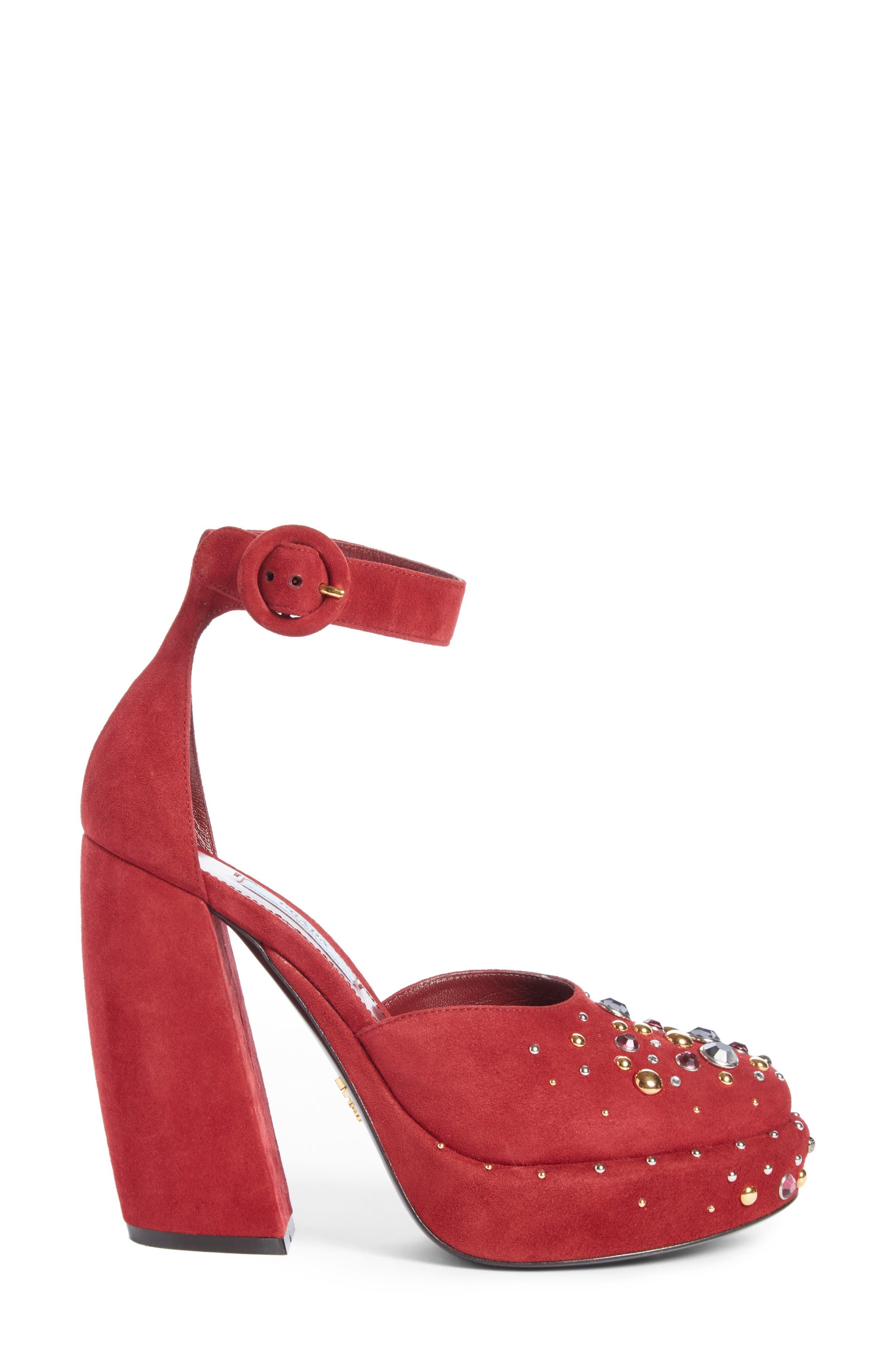 Alternate Image 4  - Prada Embellished Ankle Strap Pump (Women)