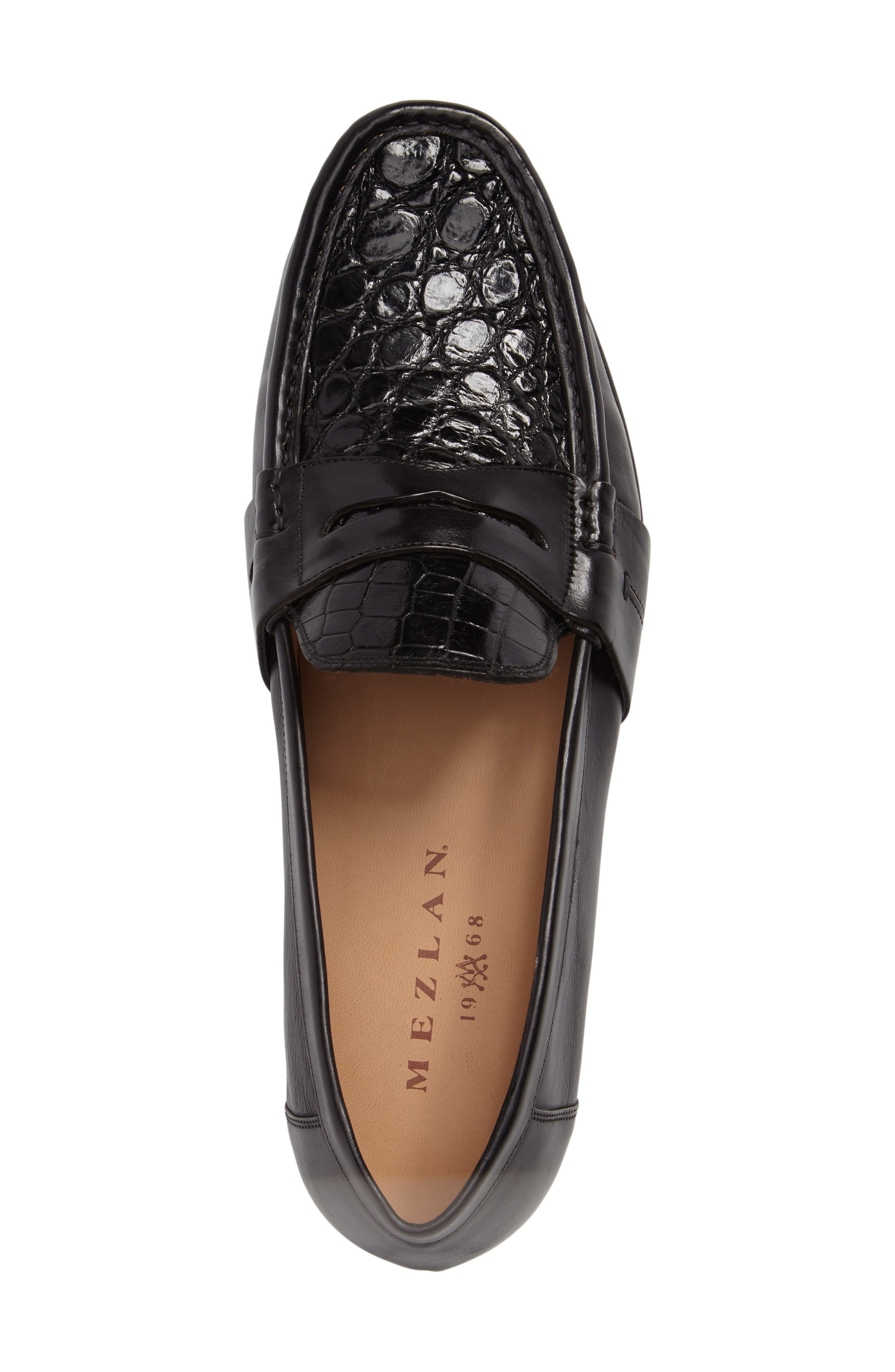 Marconi Penny Loafer,                             Alternate thumbnail 5, color,                             Black Leather