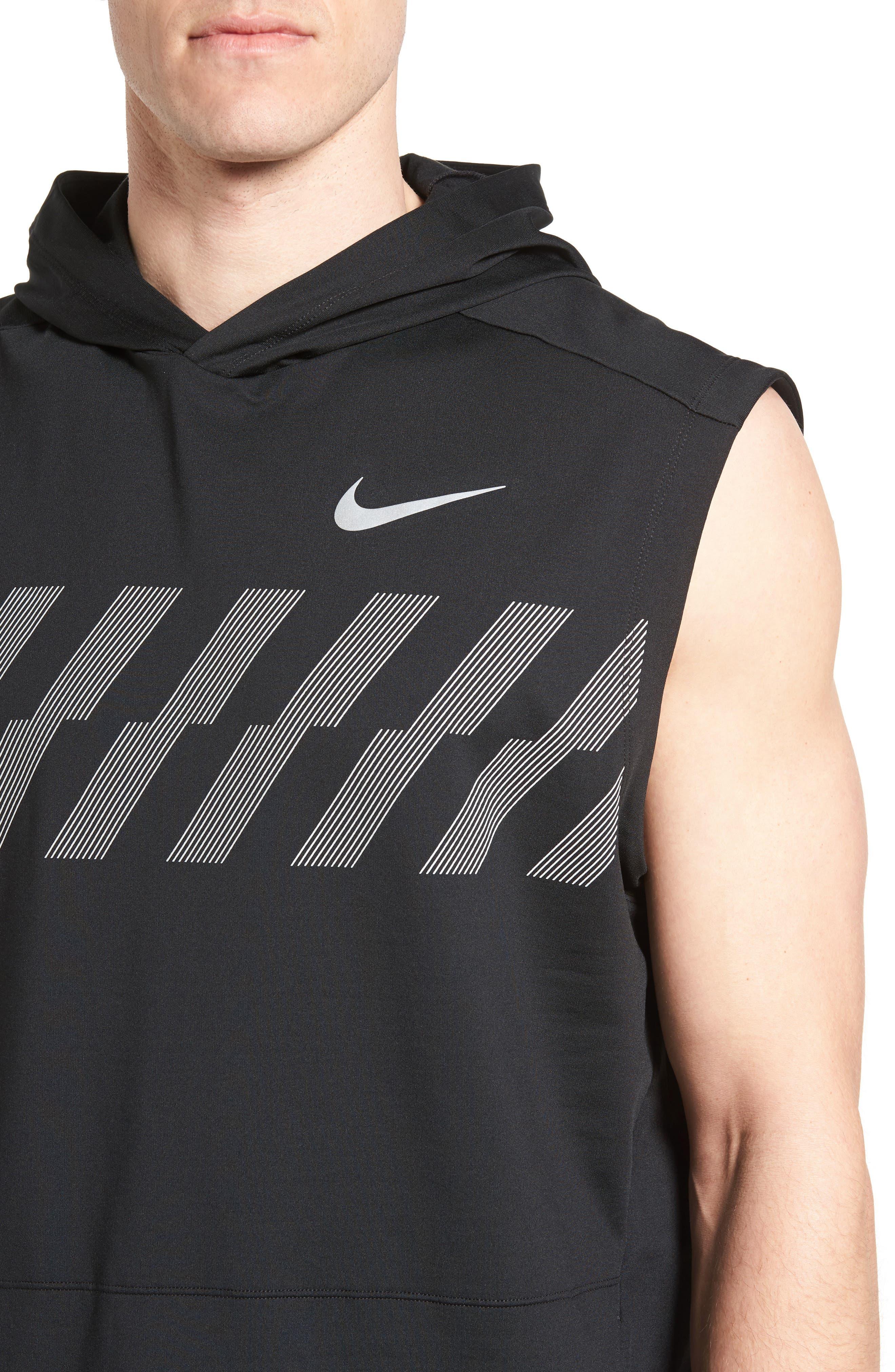 Alternate Image 4  - Nike Sleeveless Running Hoodie