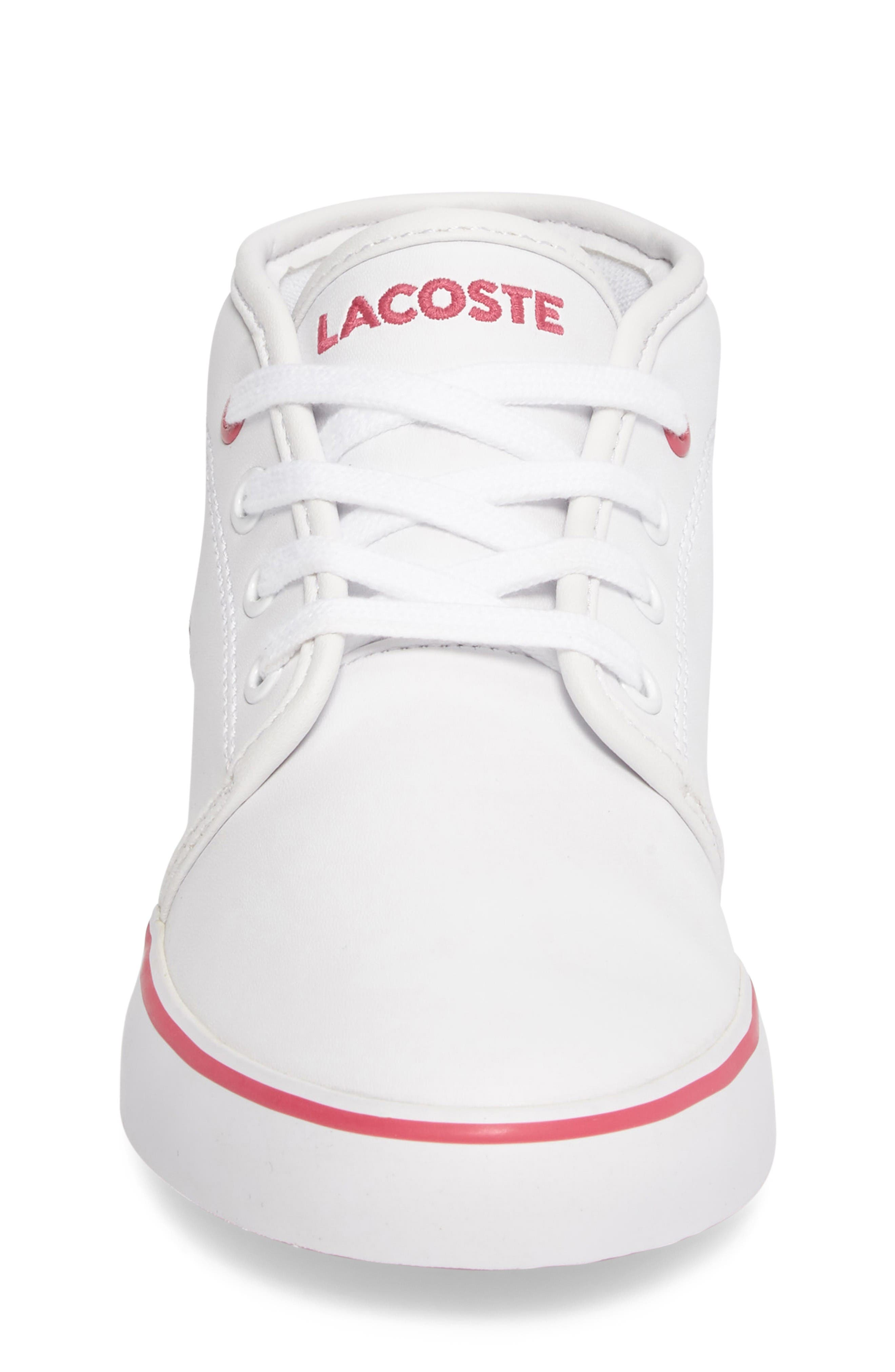 Ampthill Mid-Top Sneaker,                             Alternate thumbnail 4, color,                             White/ Pink