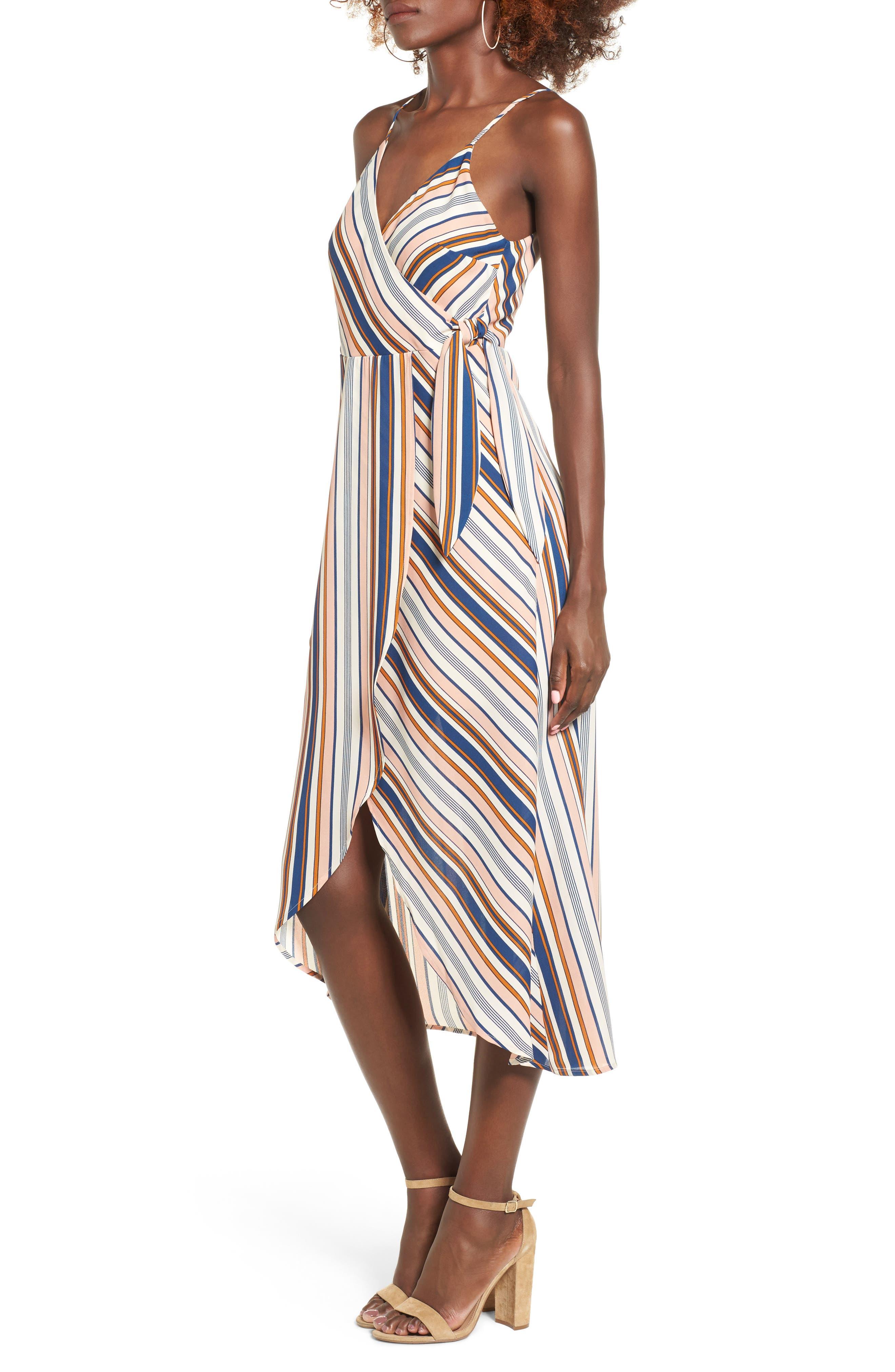 Alternate Image 3  - Dee Elly Stripe Surplice Dress