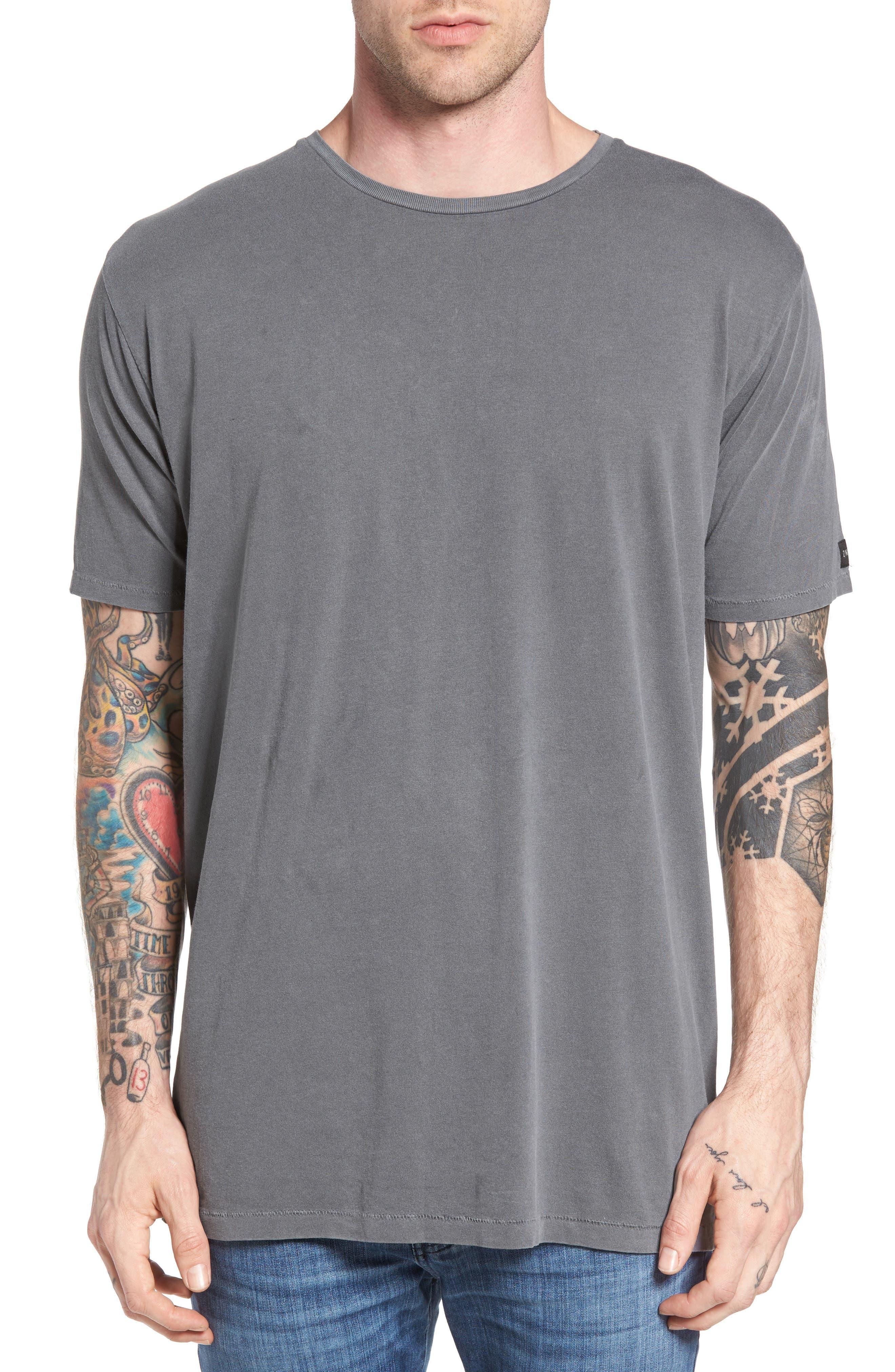 Flintlock Longline T-Shirt,                             Main thumbnail 1, color,                             Pigment Grey