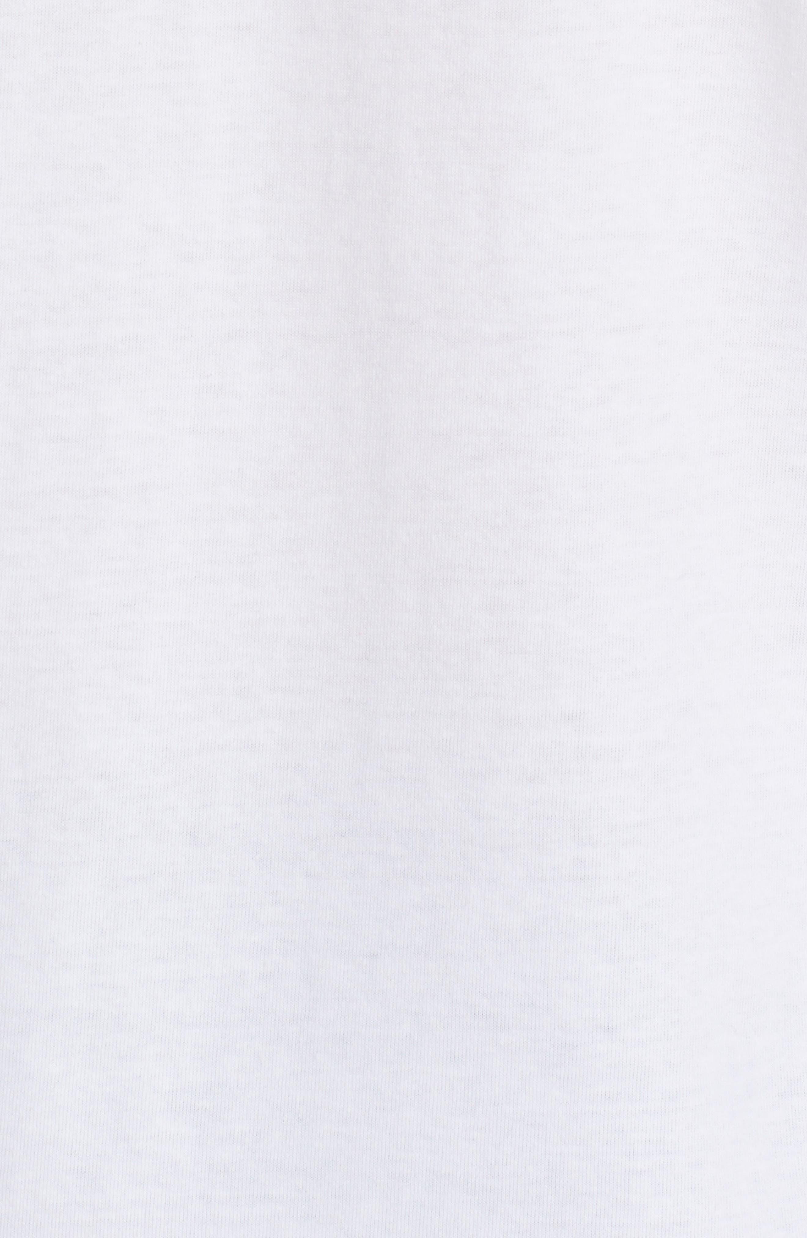 Comme des Garçons Play Stretch Face Heart T-Shirt,                             Alternate thumbnail 5, color,                             White