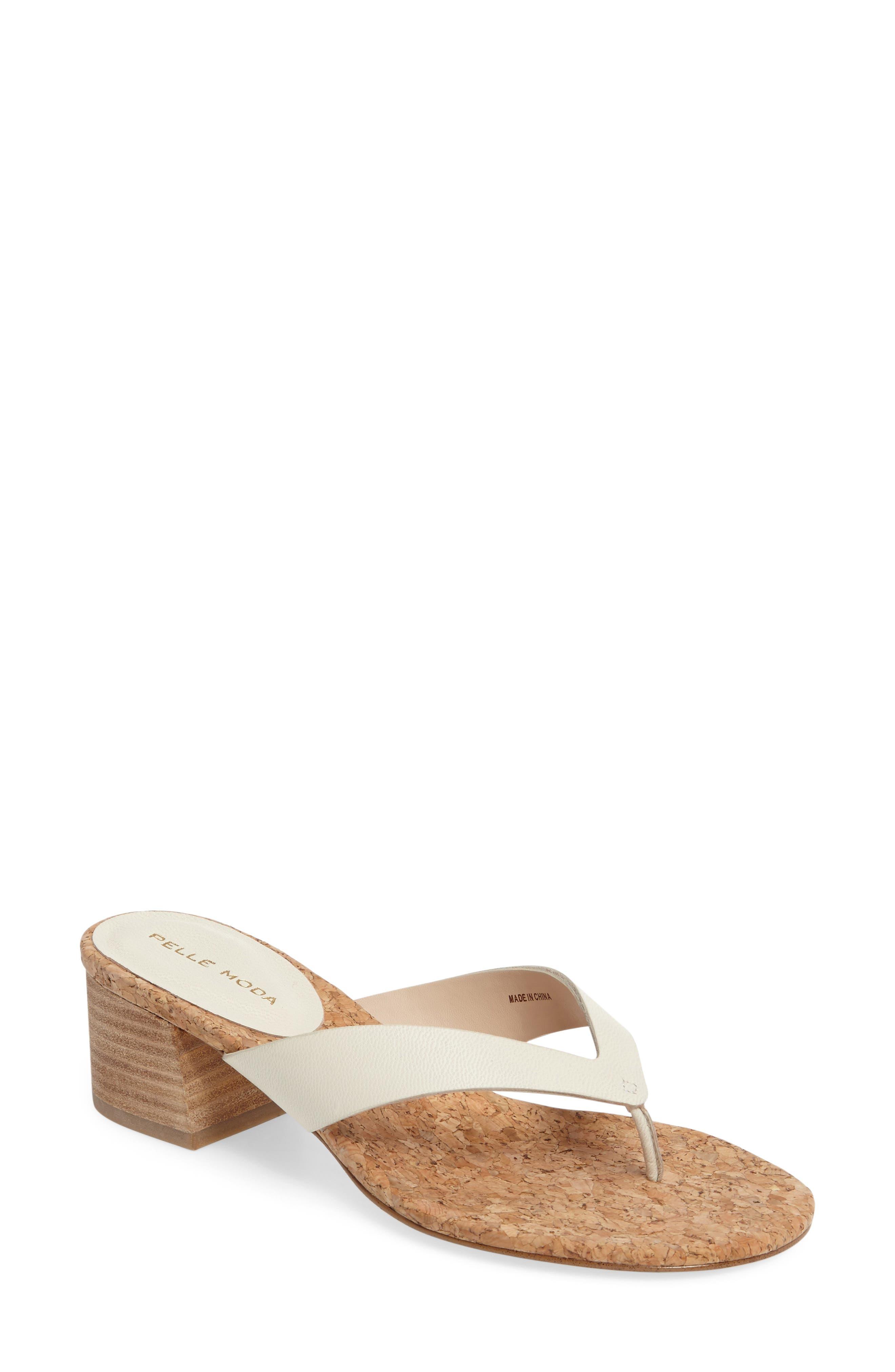 Meryl Sandal,                         Main,                         color, White Leather