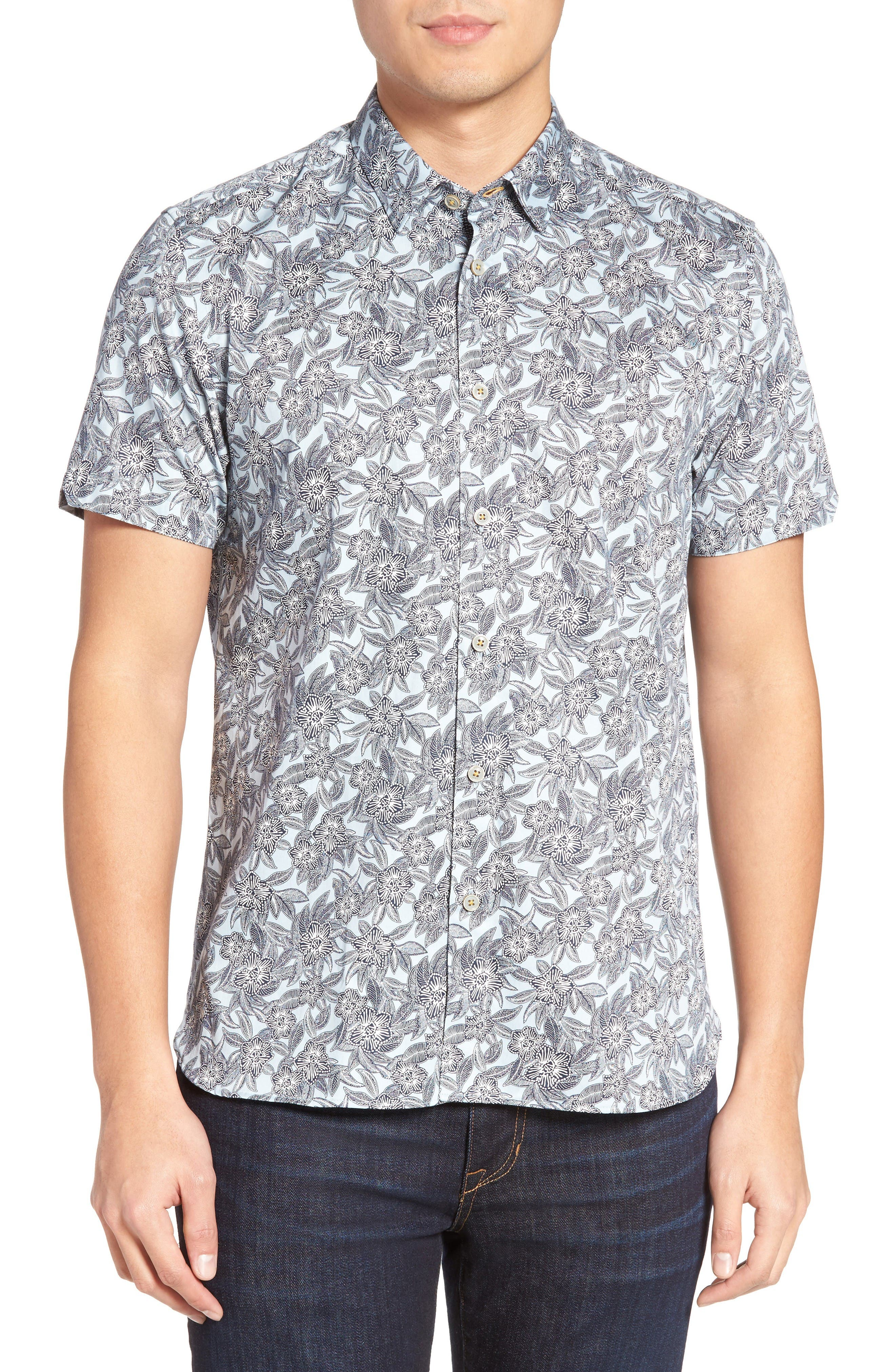 Alternate Image 1 Selected - Ted Baker London Kryko Extra Slim Fit Print Sport Shirt