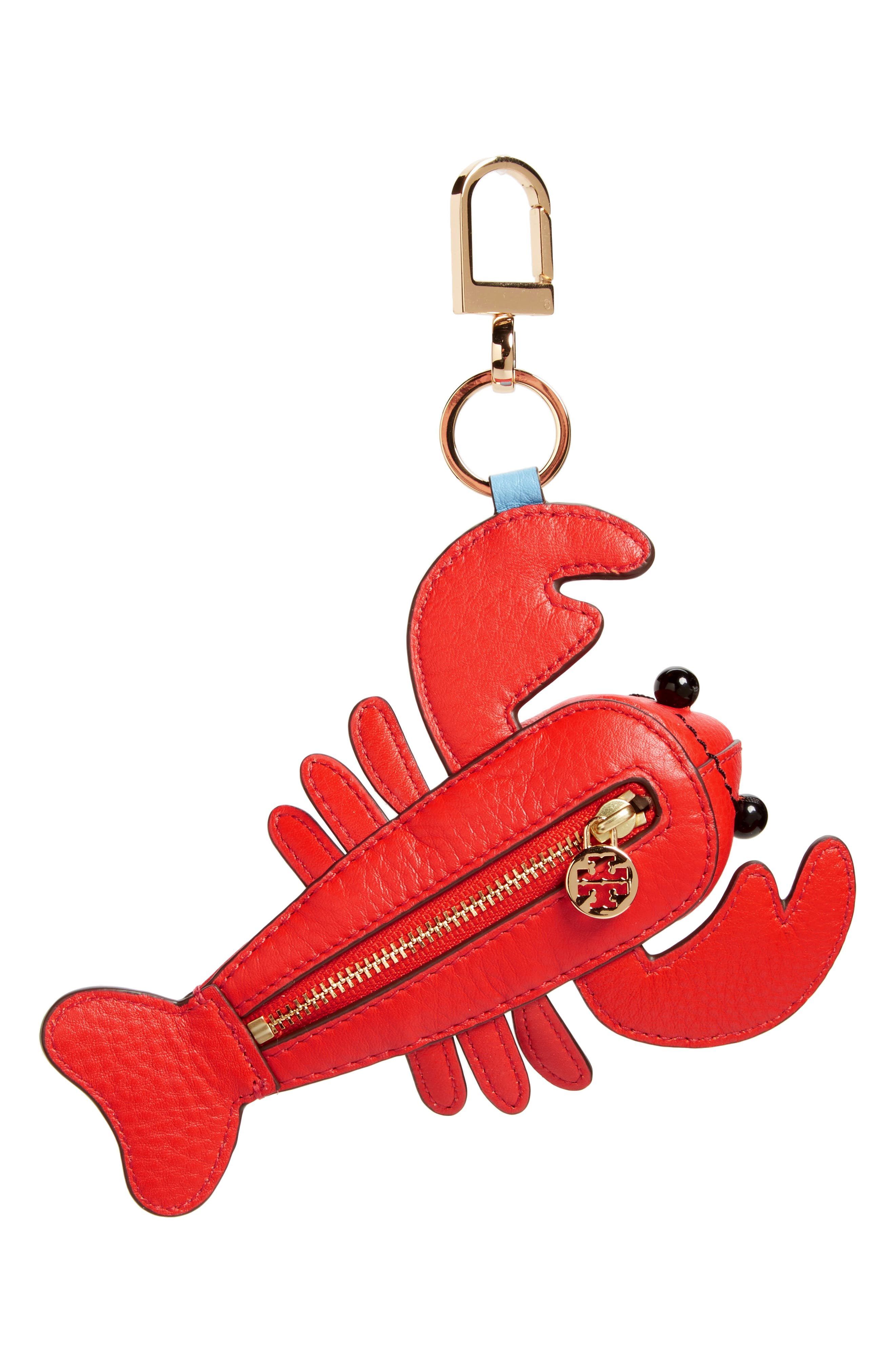 Main Image - Tory Burch Larry Lobster Leather Bag Charm