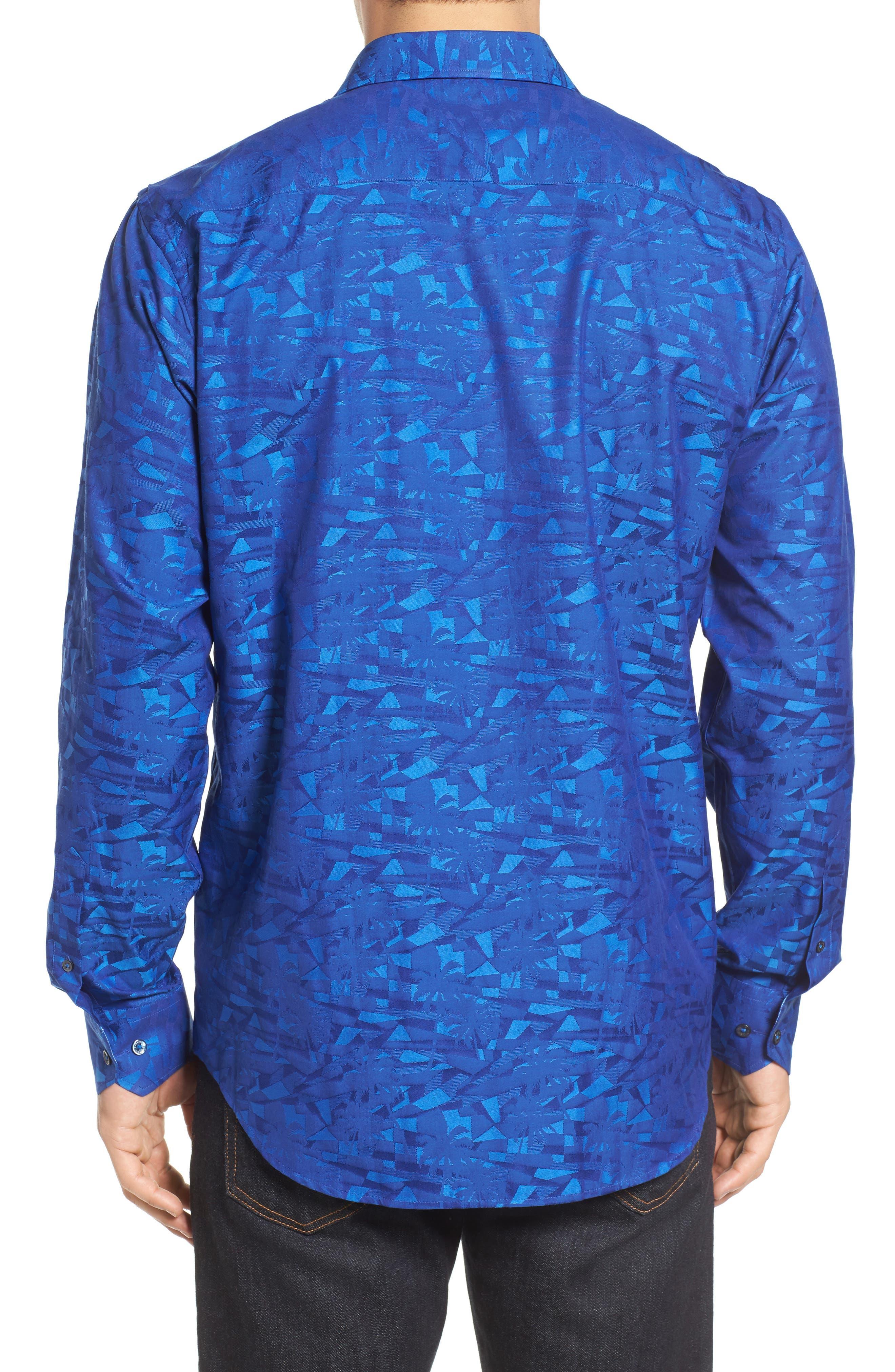 Classic Fit Sport Shirt,                             Alternate thumbnail 2, color,                             Navy