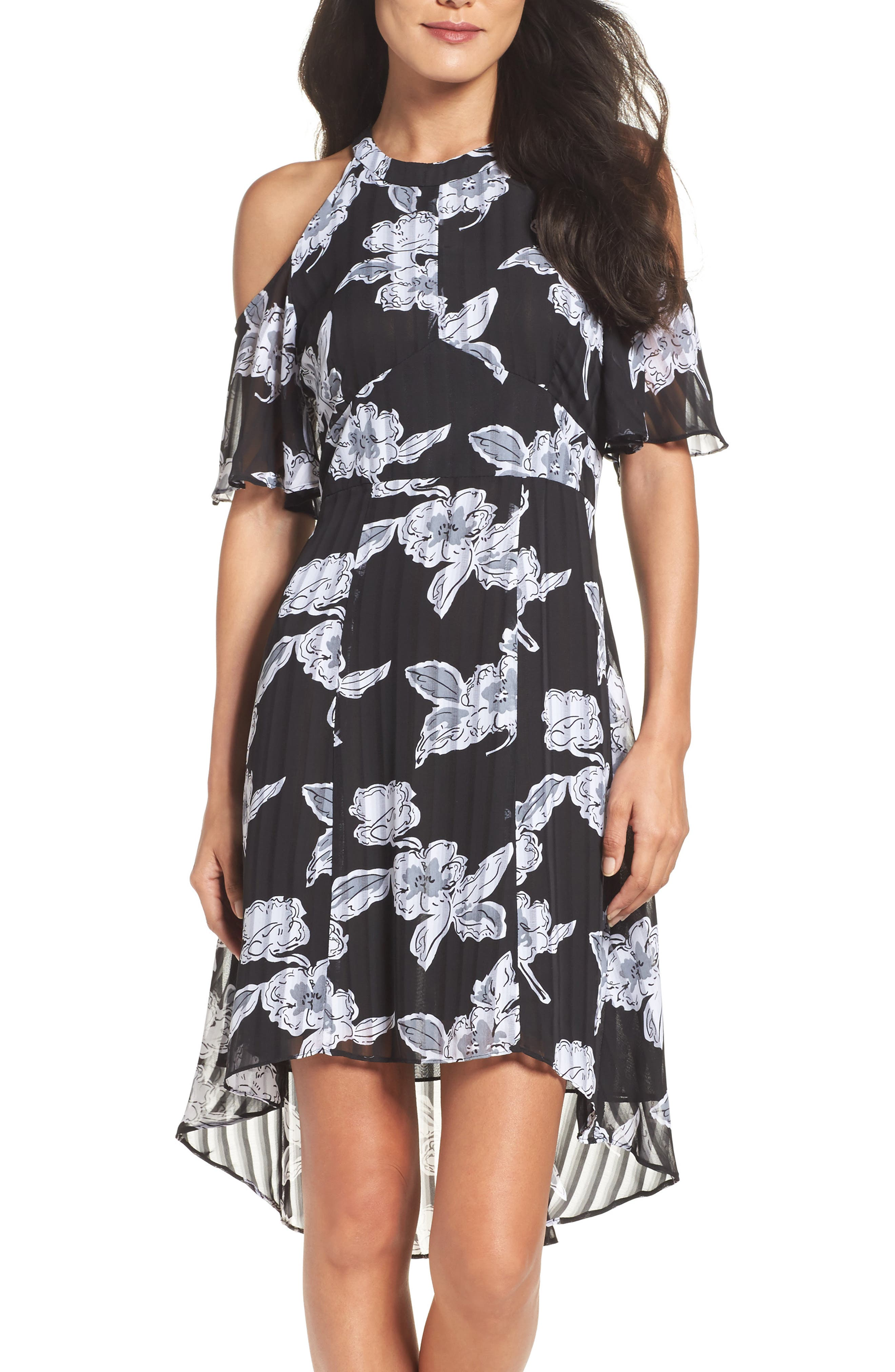 Alternate Image 4  - Julia Jordan Print Cold Shoulder Dress