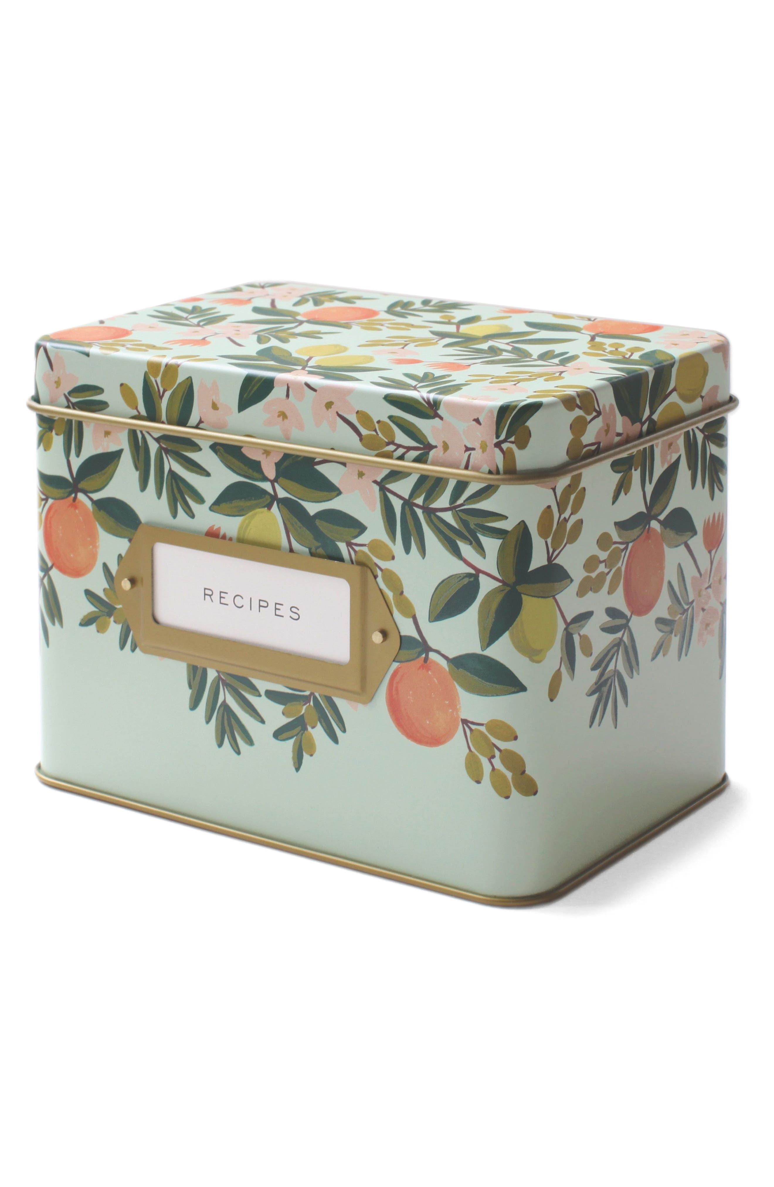 Alternate Image 2  - Rifle Paper Co. Citrus Floral Recipe Tin