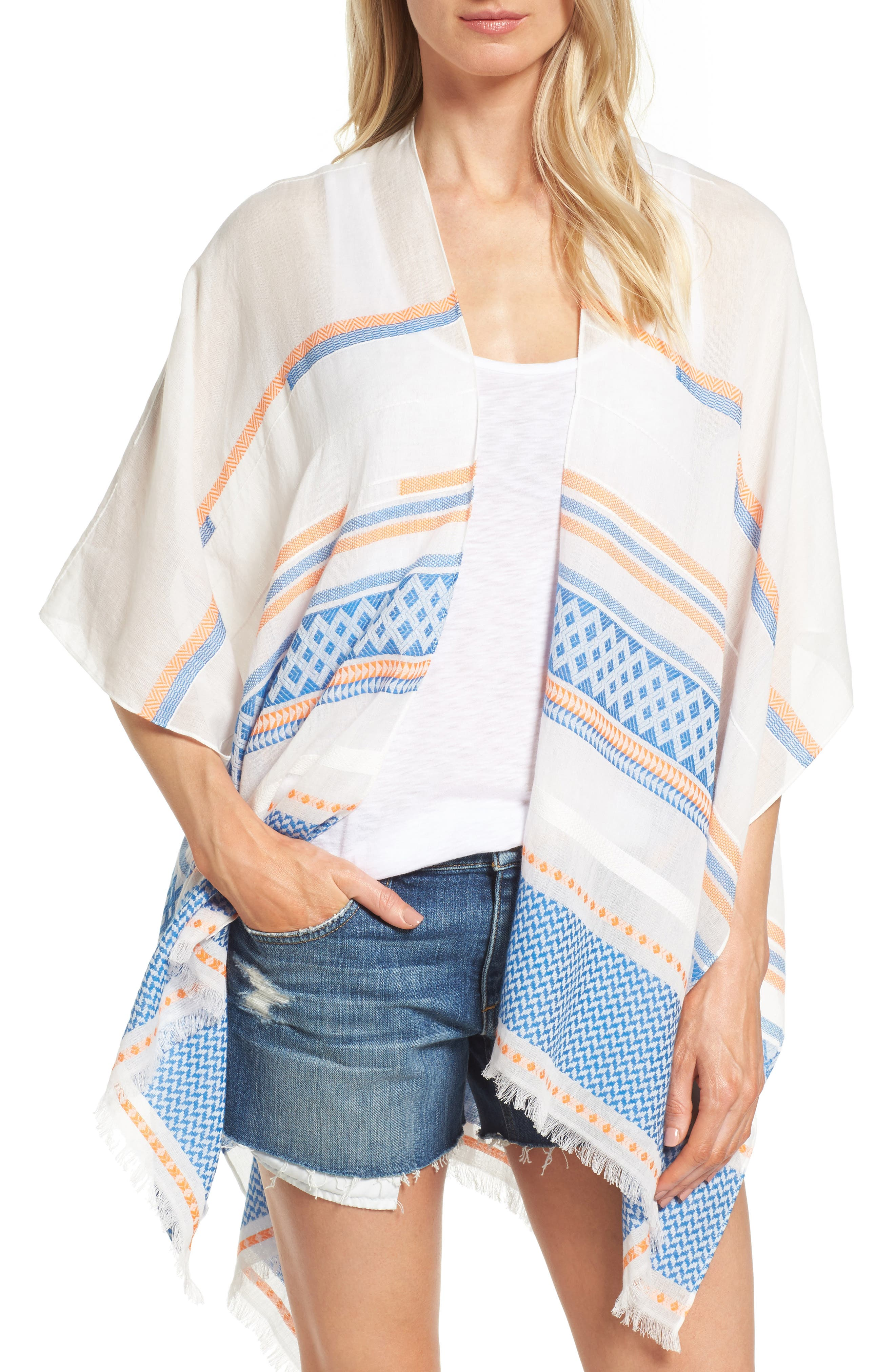 Alternate Image 1 Selected - Rebecca Minkoff Broken Stripe Cape