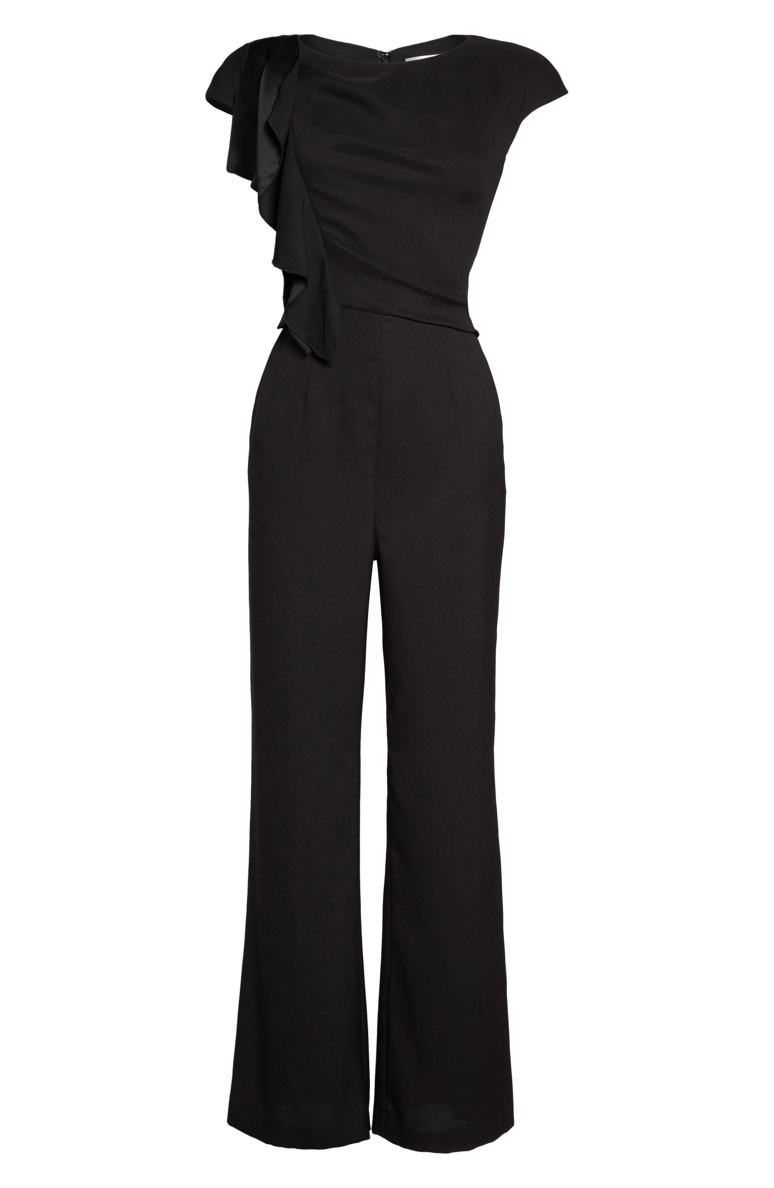 Alternate Image 6  - Eliza J Ruffle Sleeve Crepe Jumpsuit