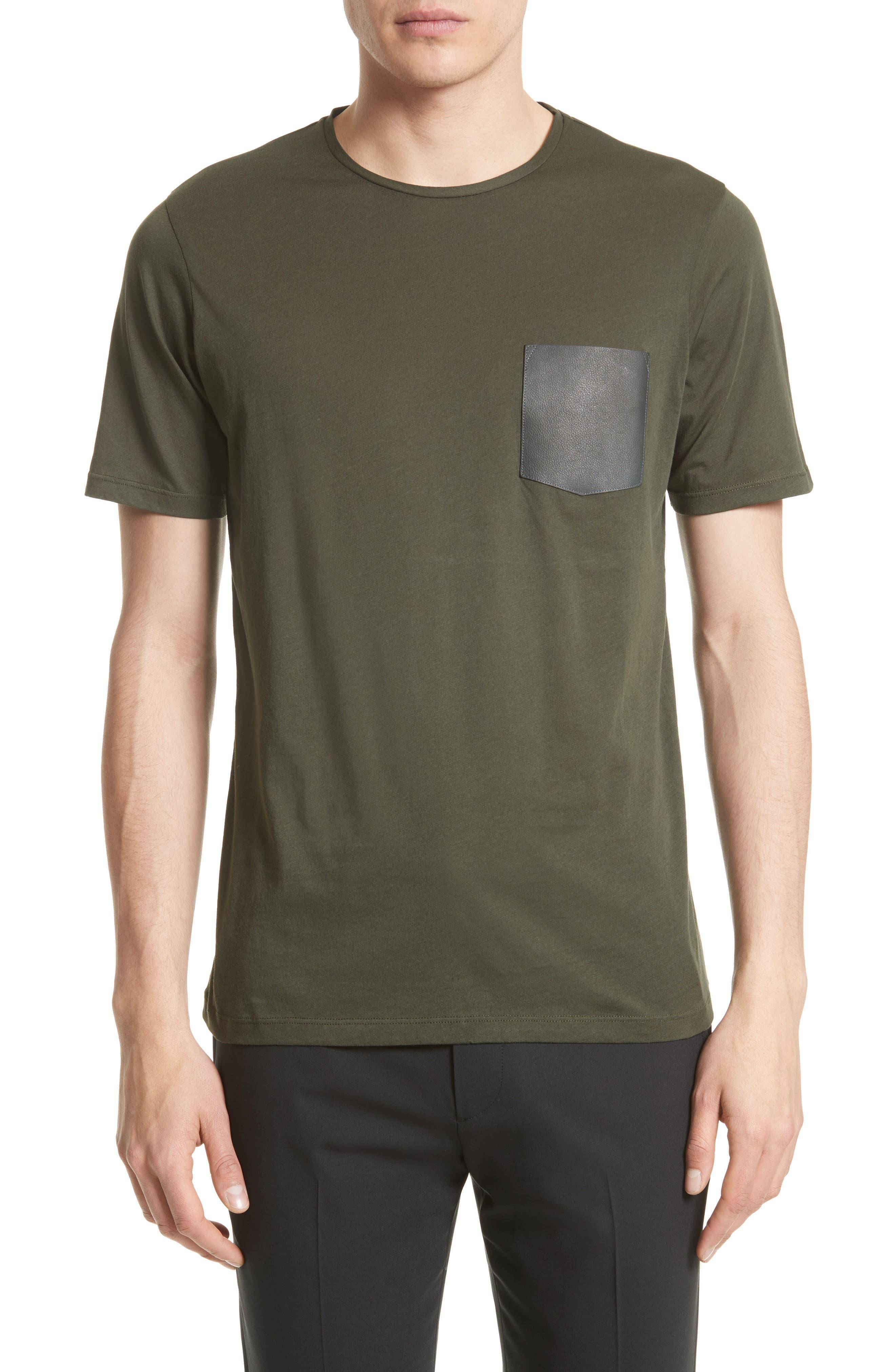 Alternate Image 1 Selected - The Kooples Leather Pocket T-Shirt