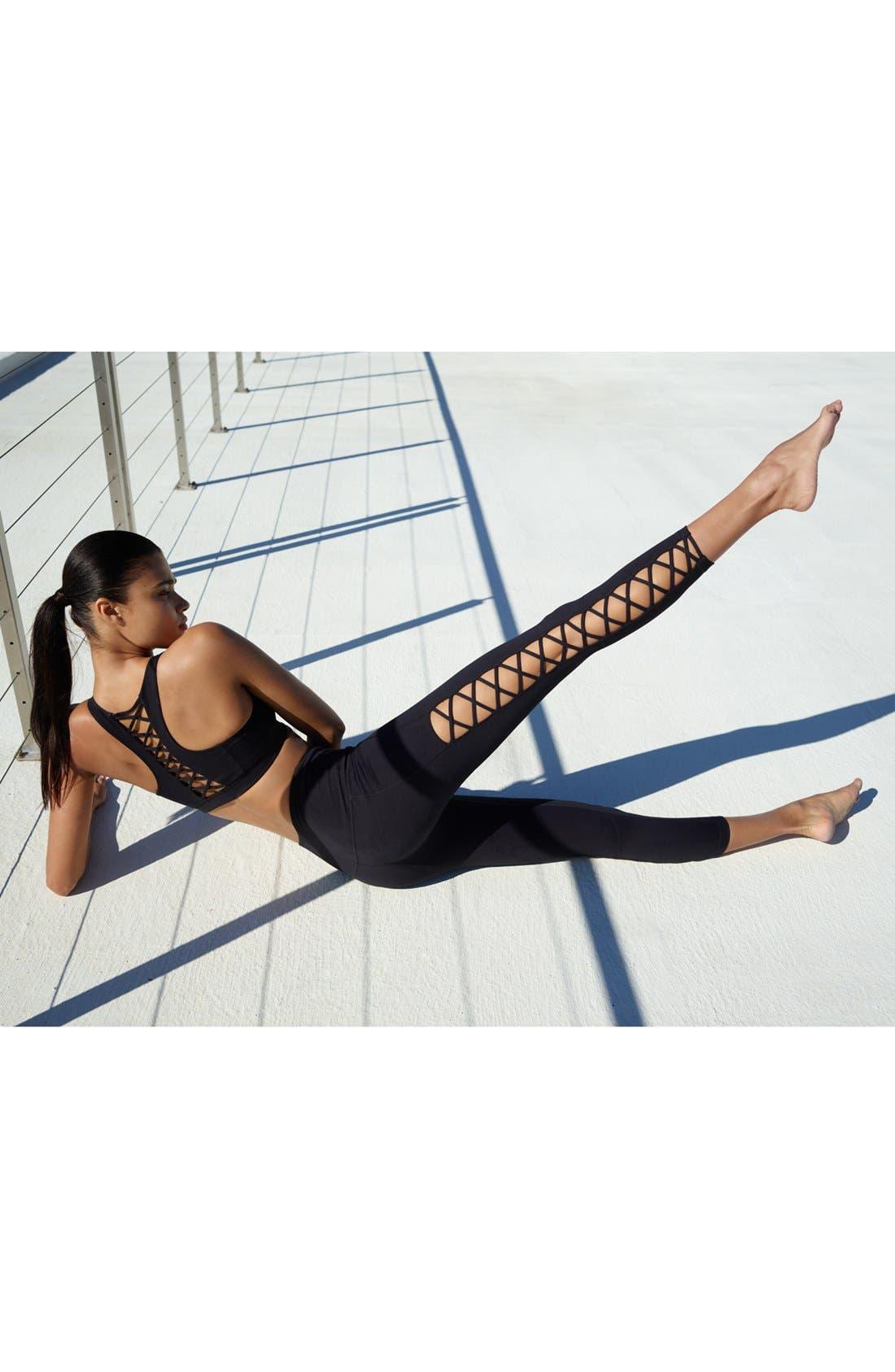 Alternate Image 6  - Zella Lace It Up High Waist Midi Leggings