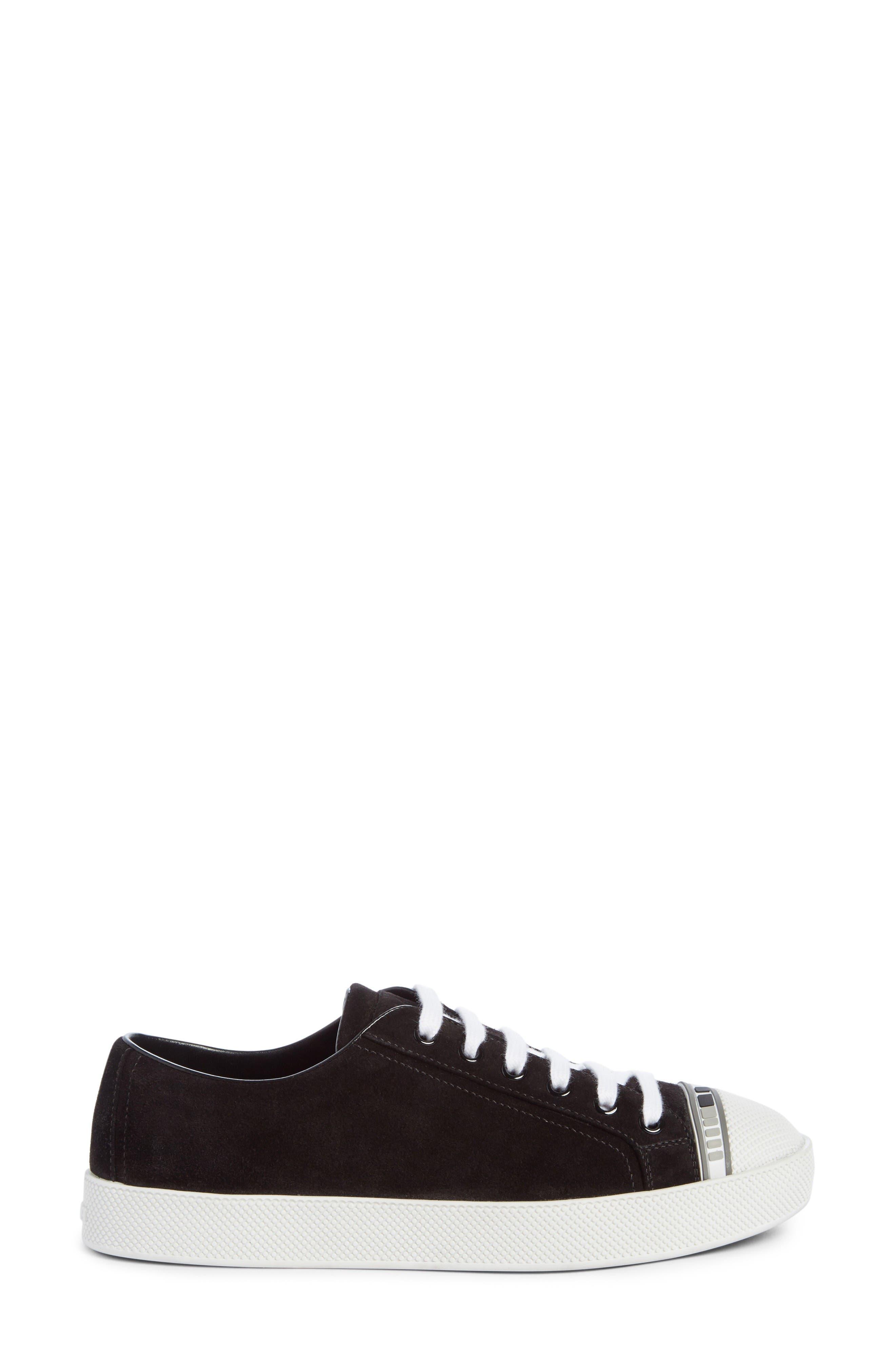 Linea Rossa Logo Platform Sneaker,                             Alternate thumbnail 2, color,                             Black/ White