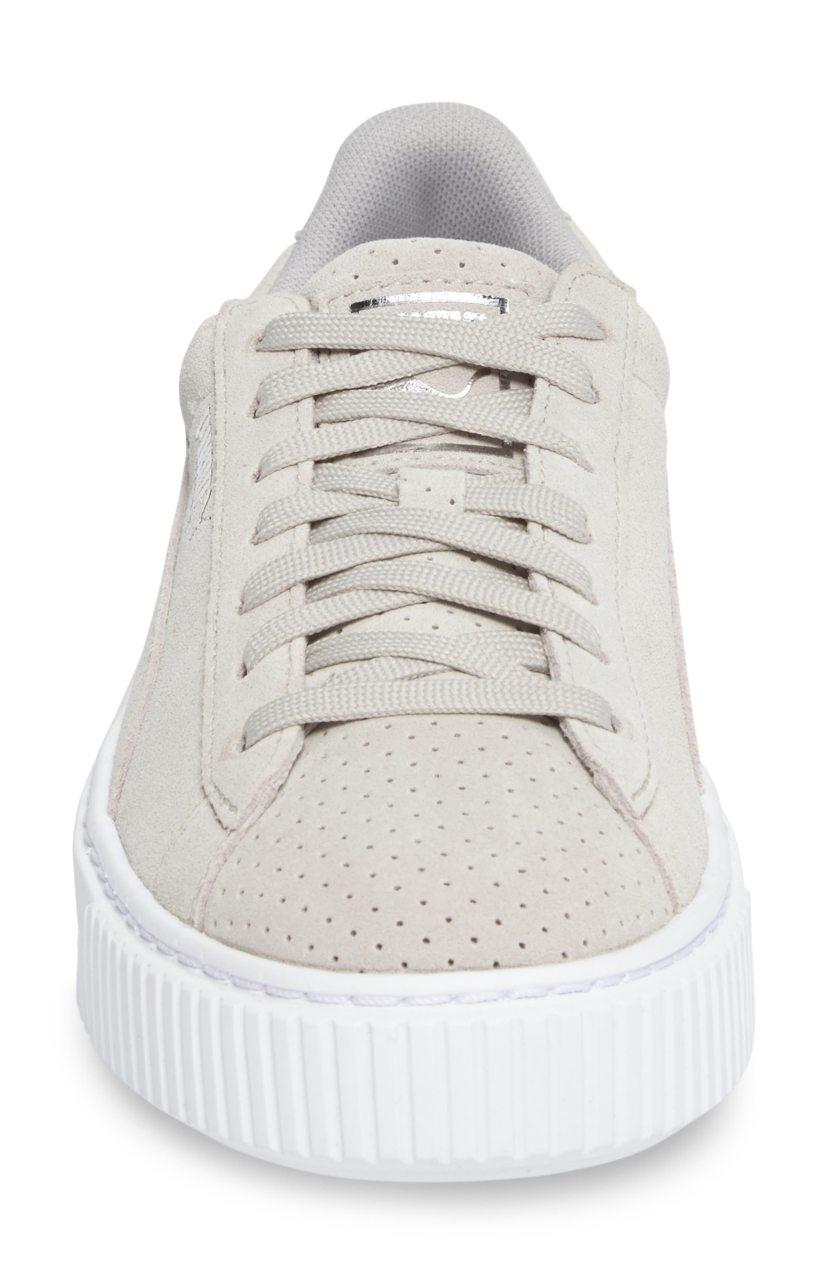 Basket Platform Sneaker,                             Alternate thumbnail 5, color,                             Grey Violet/ Silver