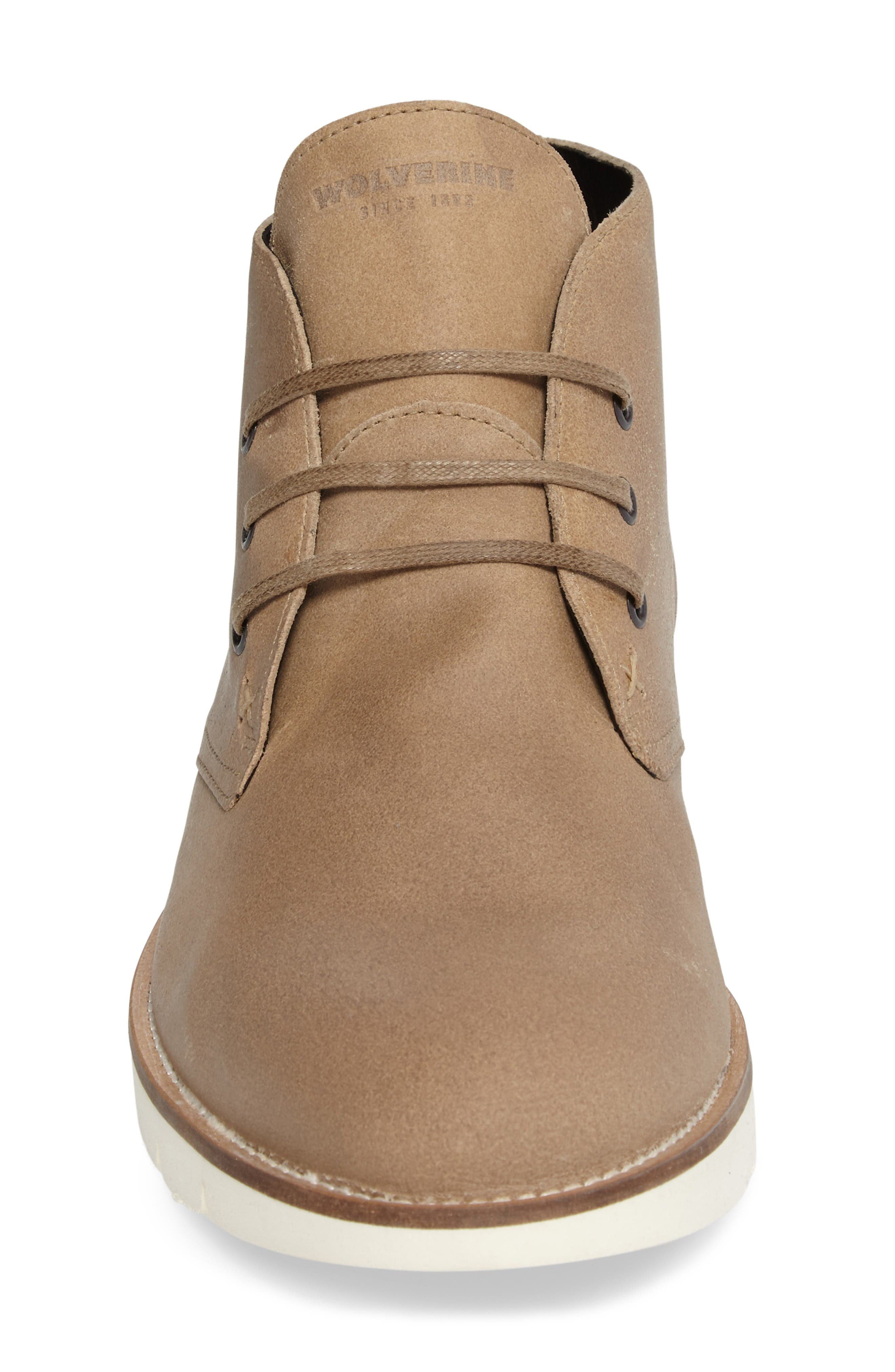 Gibson Chukka Boot,                             Alternate thumbnail 4, color,                             Stone Suede