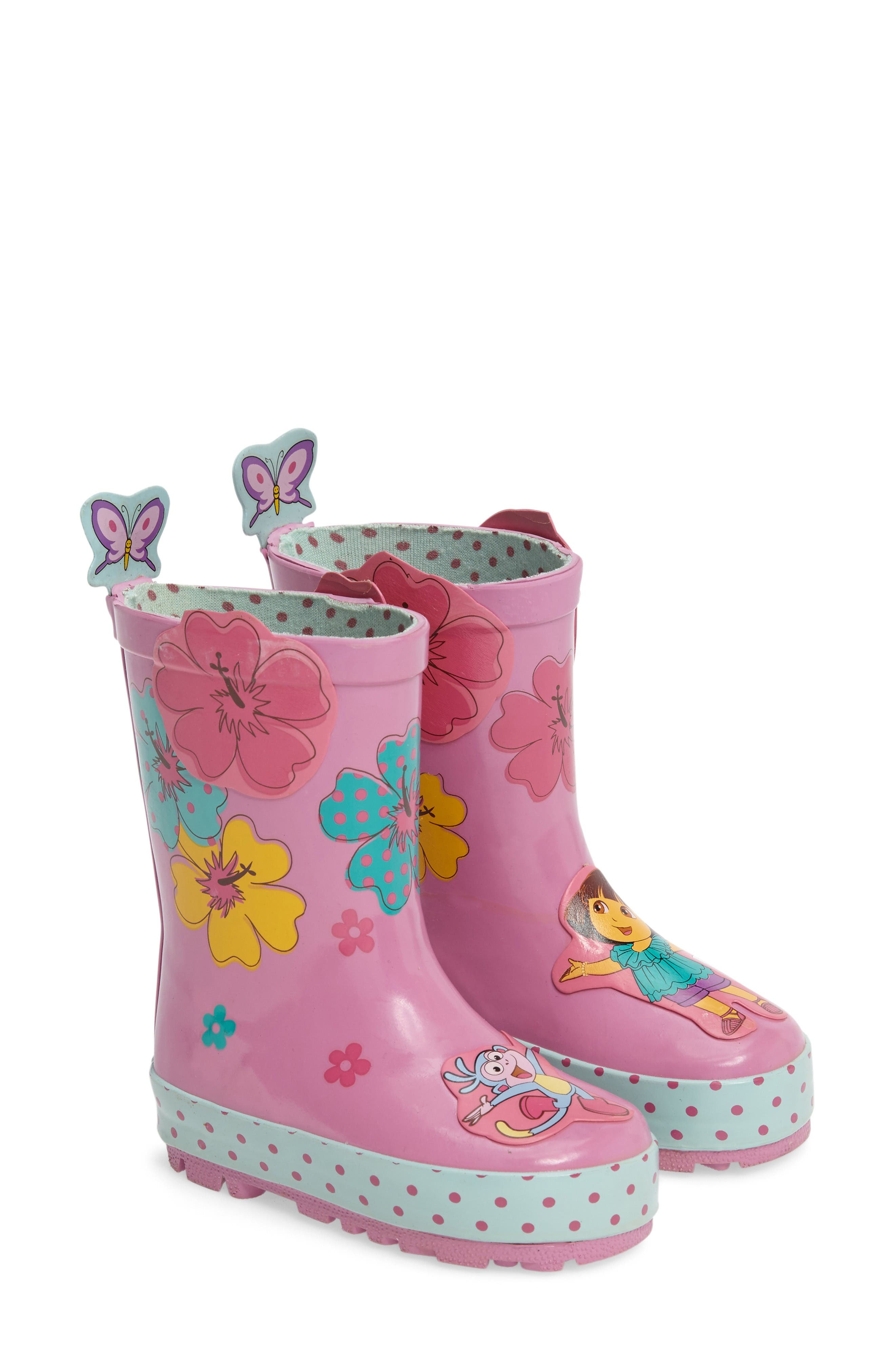 Alternate Image 2  - Kidorable Dora the Explorer Rain Boot (Walker, Toddler & Little Kid)
