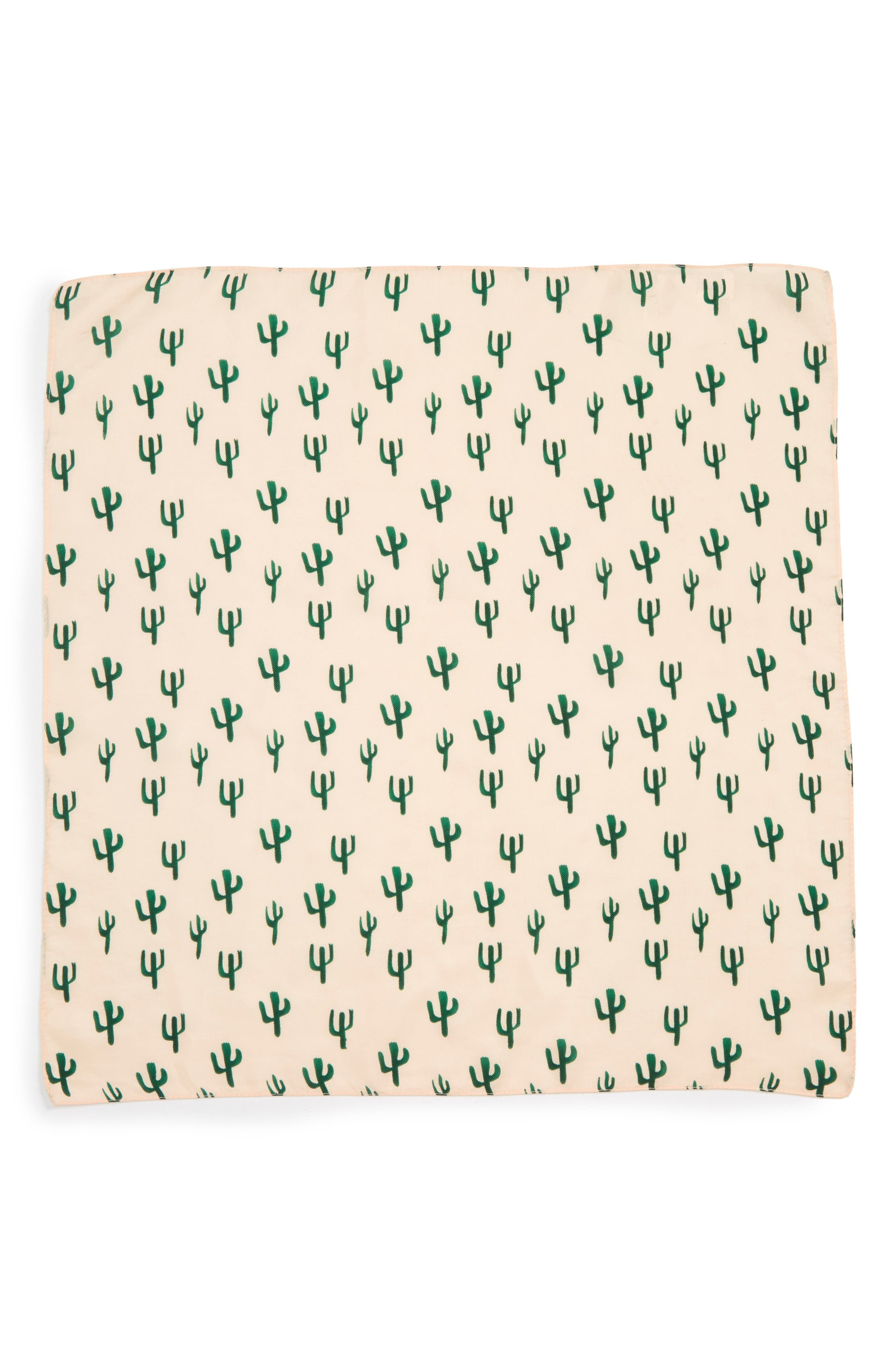Alternate Image 2  - Sole Society Cactus Silk Scarf