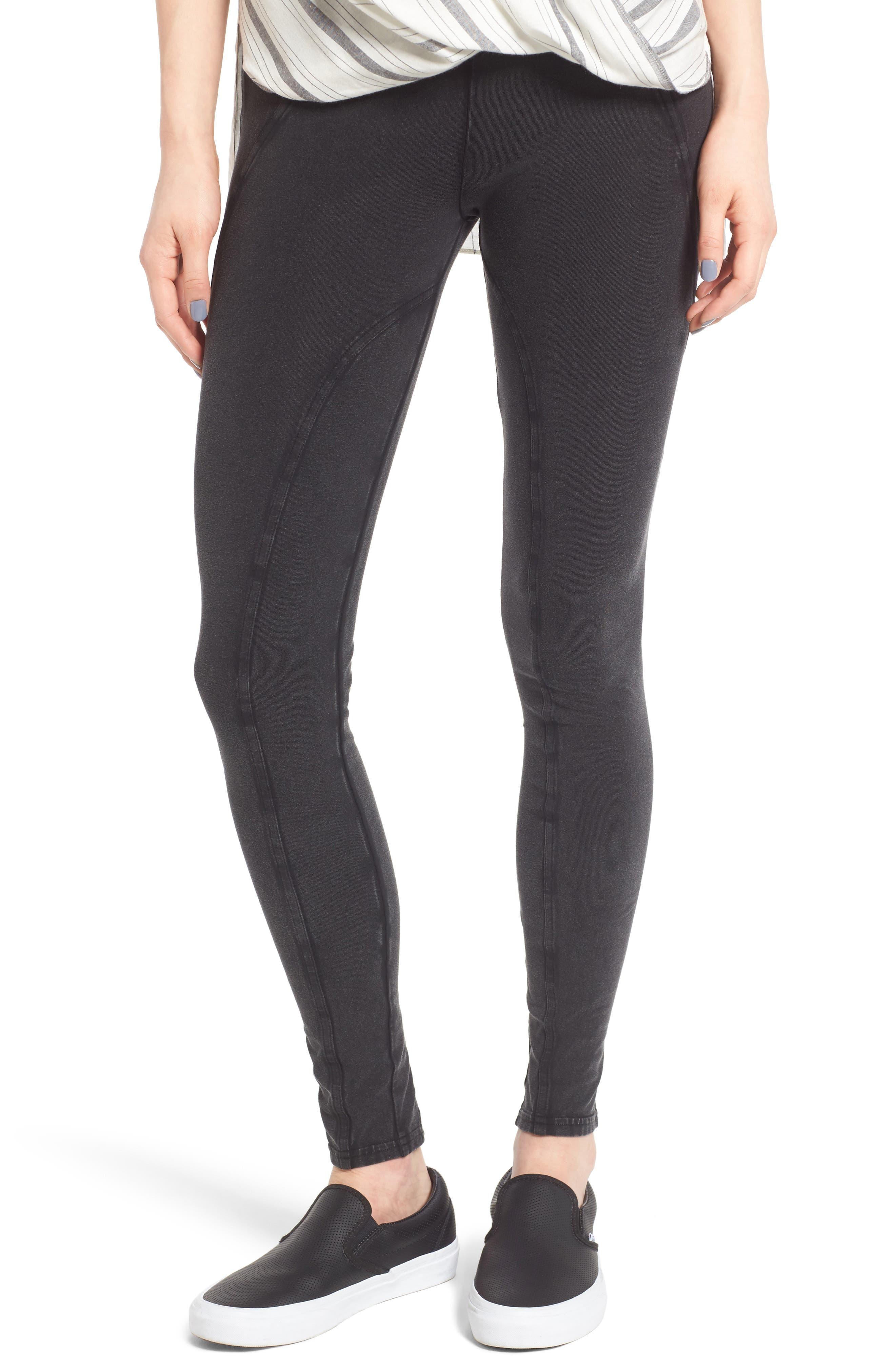 Lace-Up Leggings,                         Main,                         color, Black