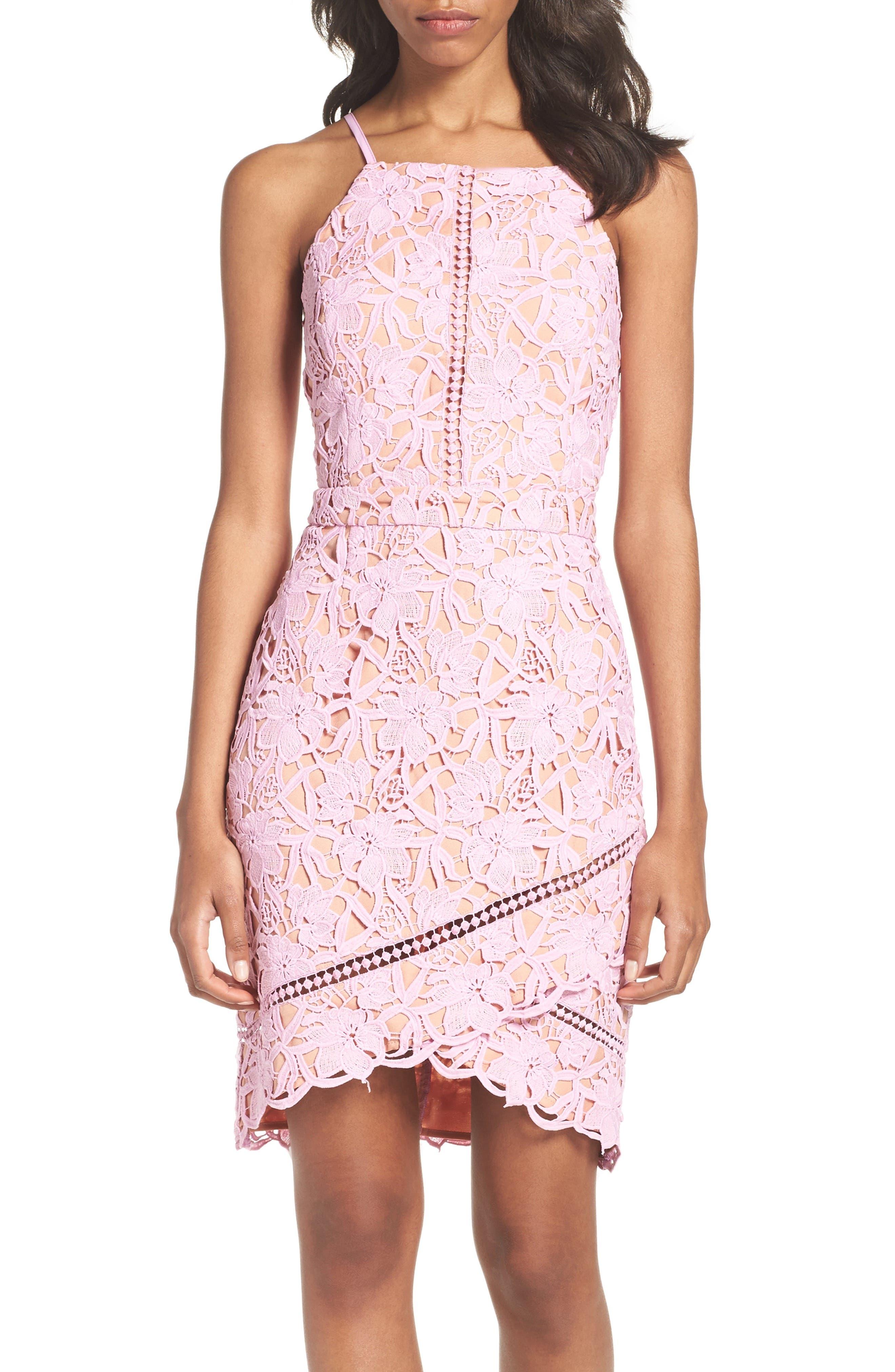 Alternate Image 4  - Adelyn Rae Lace Sheath Dress