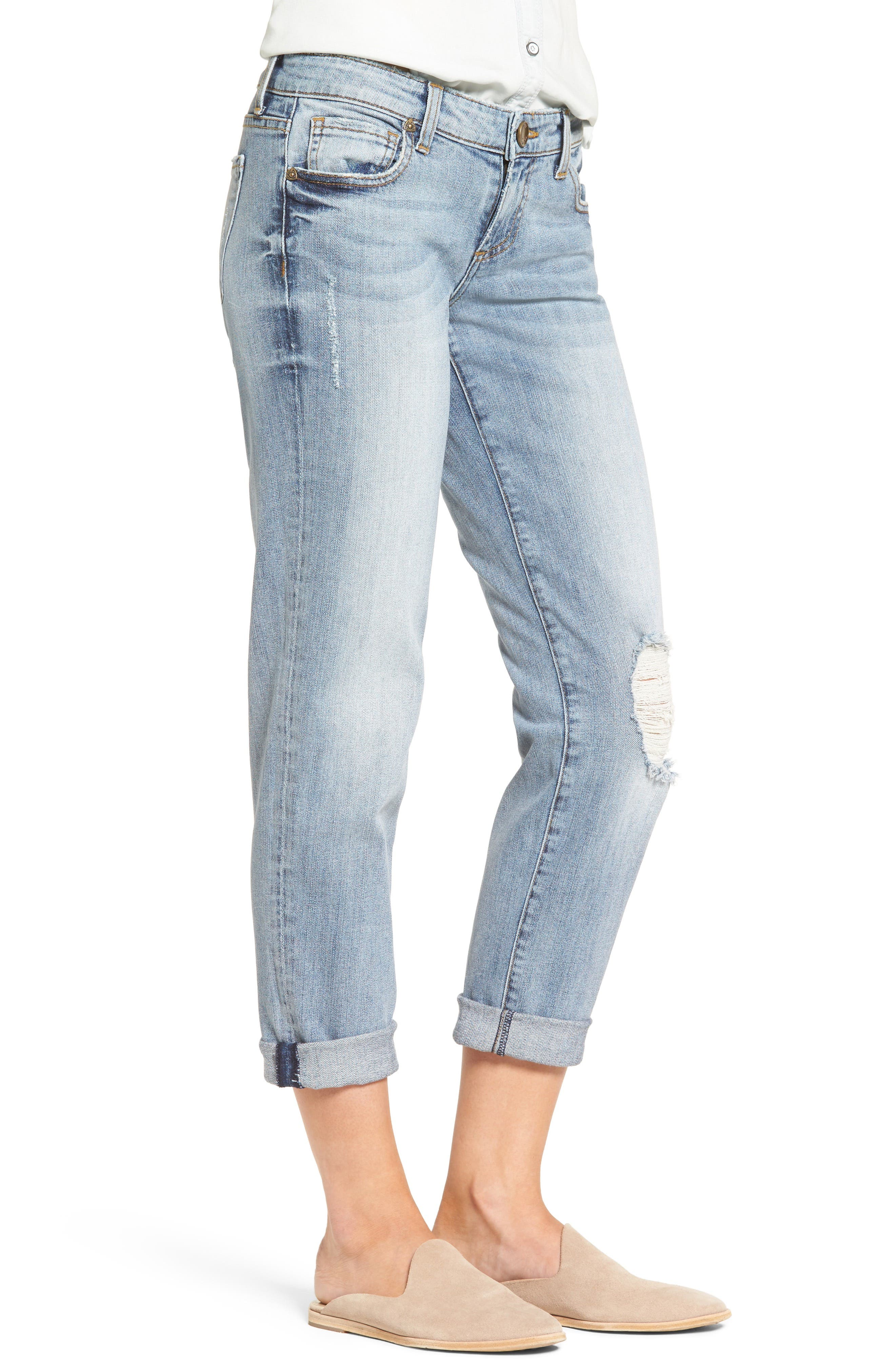 Alternate Image 3  - KUT from the Kloth Catherine Distressed Boyfriend Jeans (Regarded) (Regular & Petite)