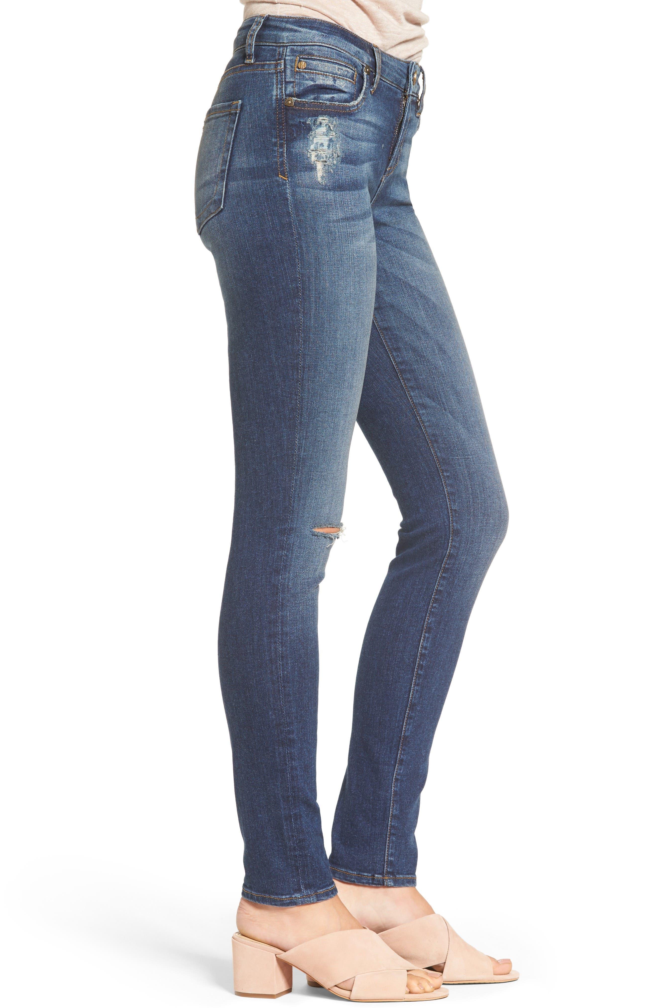 Alternate Image 4  - KUT from the Kloth Diana Ripped Stretch Skinny Jeans (Valorous) (Regular & Petite)