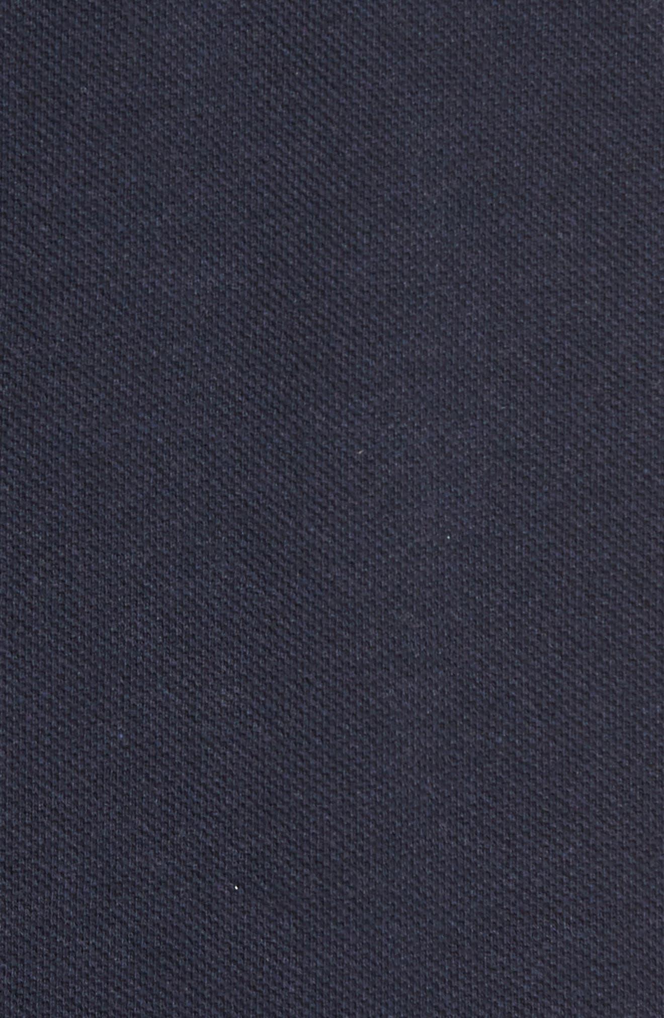 'The Gunn' Piqué Sports Fit Cotton Polo,                             Alternate thumbnail 5, color,                             Navy