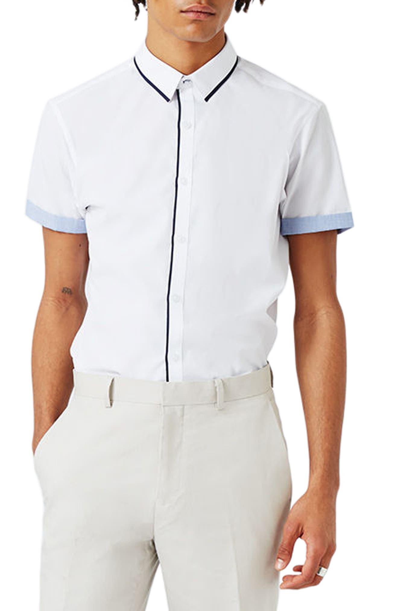 TOPMAN Contrast Trim Shirt