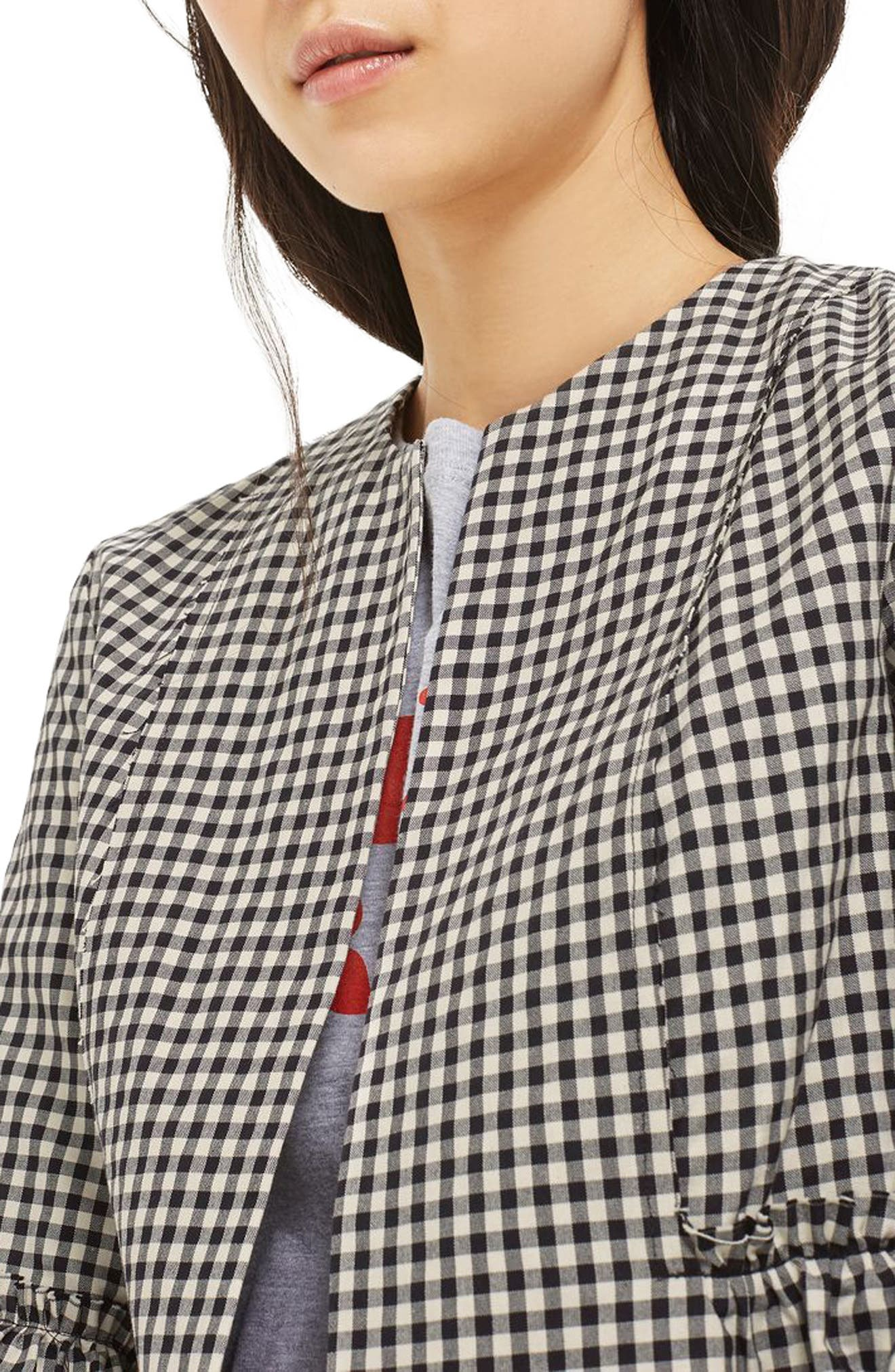 Alternate Image 5  - Topshop Crop Gingham Jacket