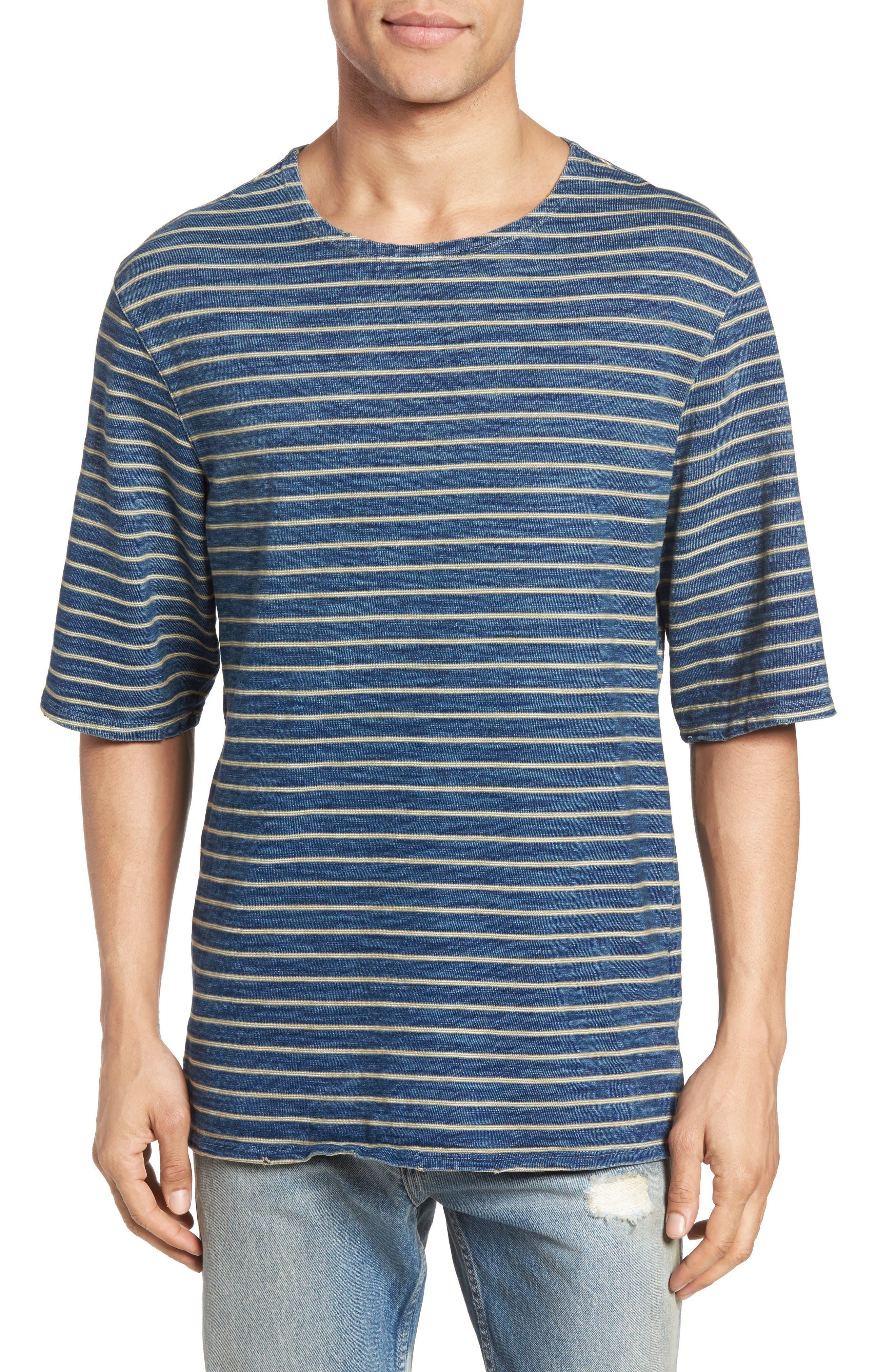 CURRENT/ELLIOTT Classic Fit Breton Stripe T-Shirt