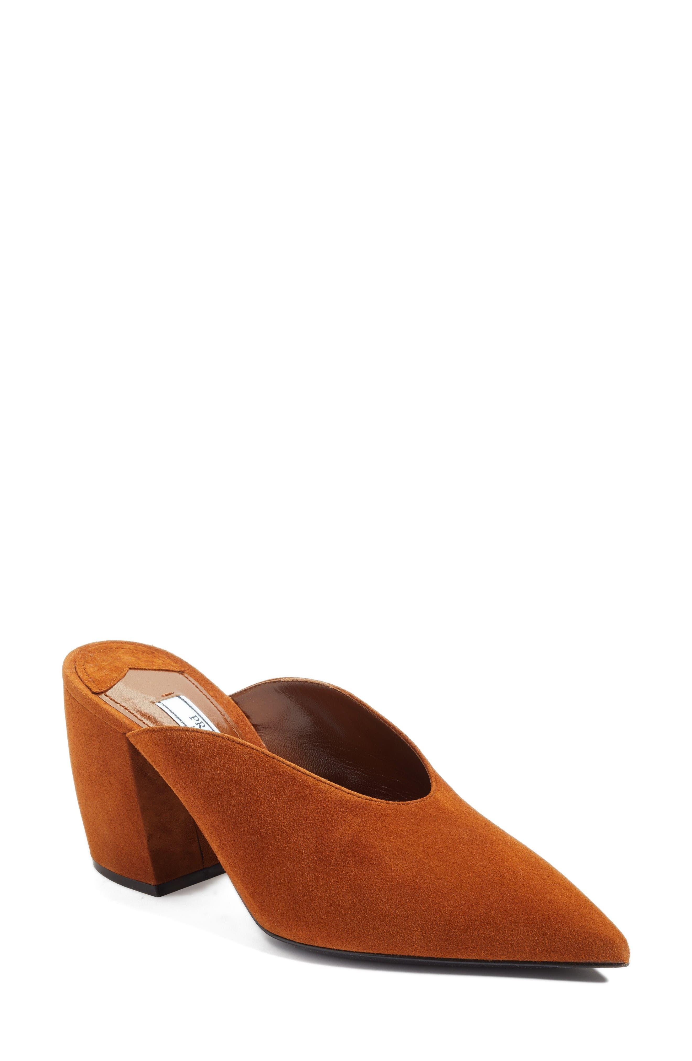 Alternate Image 1 Selected - Prada Slant Heel Mule (Women)
