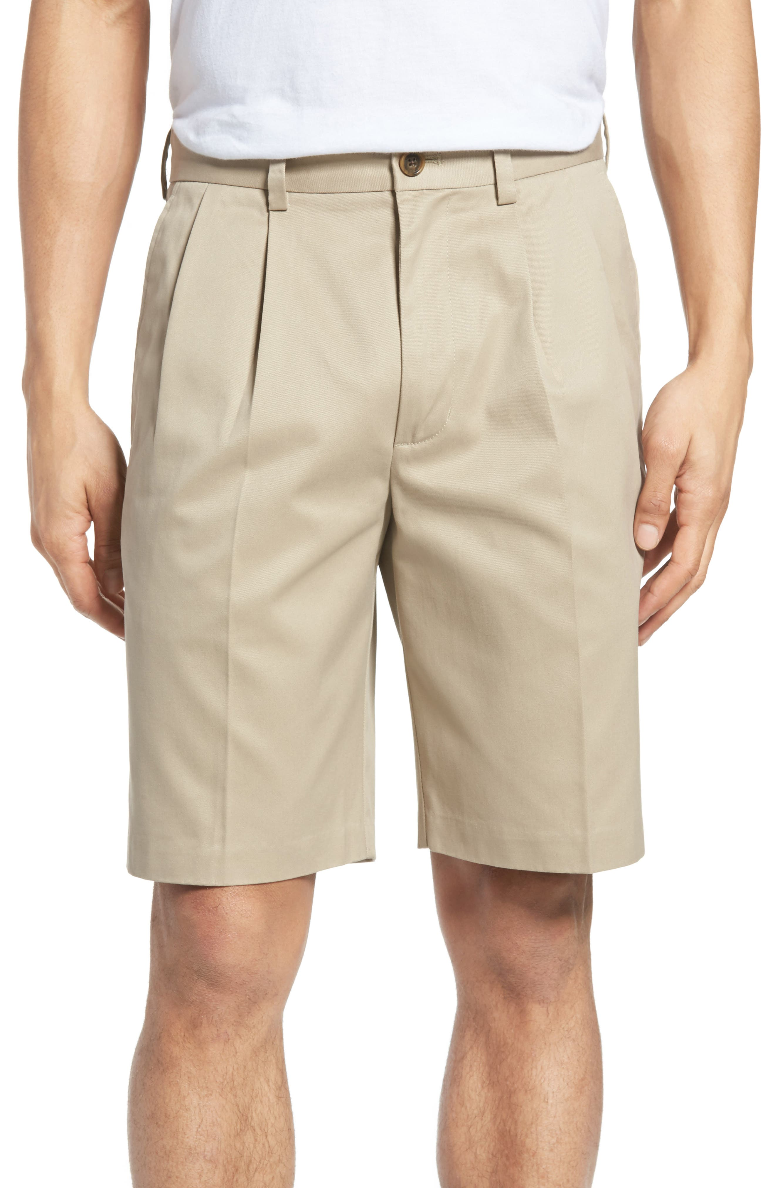 Smartcare<sup>™</sup> Pleated Shorts,                             Main thumbnail 1, color,                             Tan