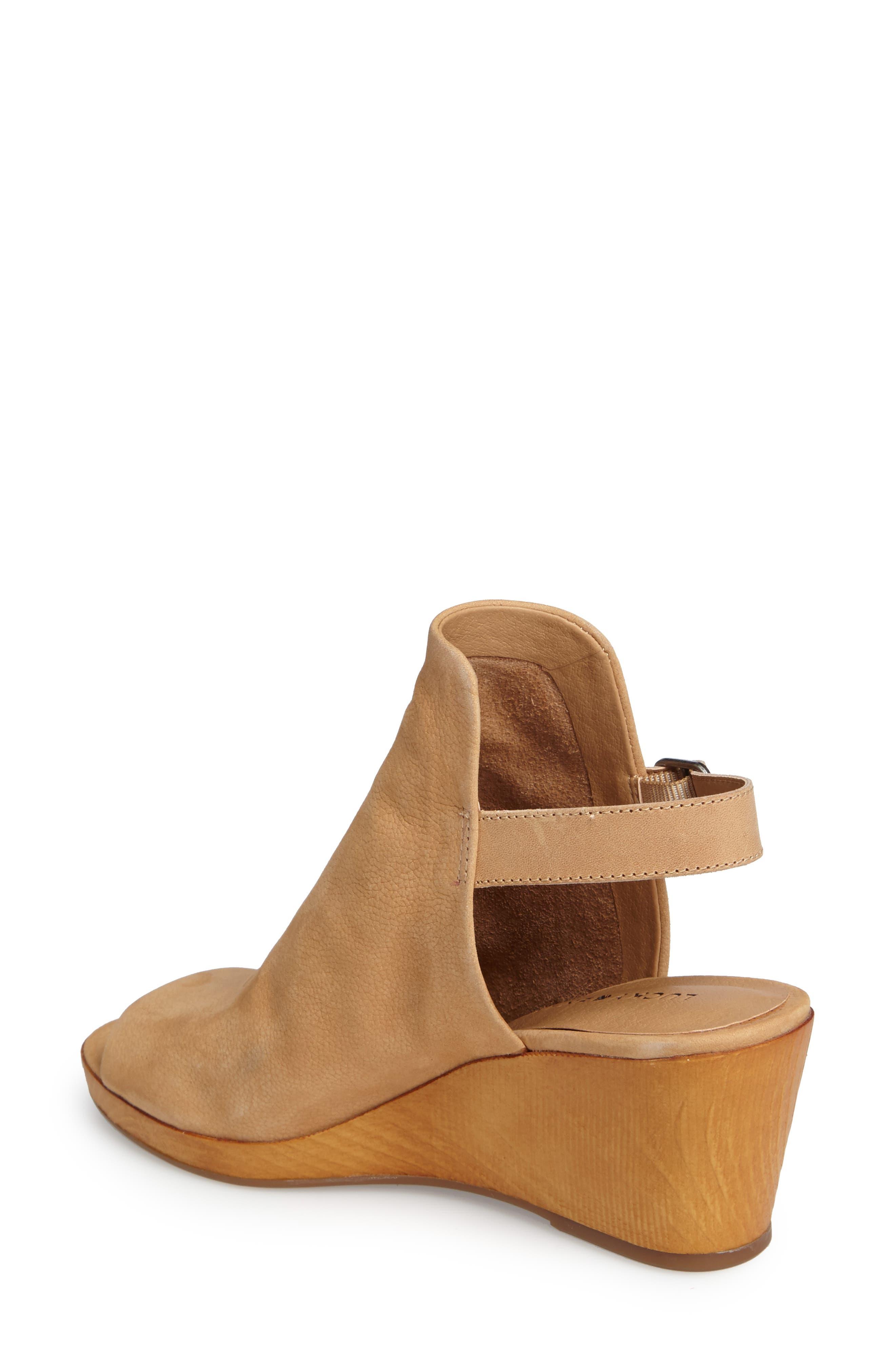 Keralin Wedge Sandal,                             Alternate thumbnail 2, color,                             Glazed Leather