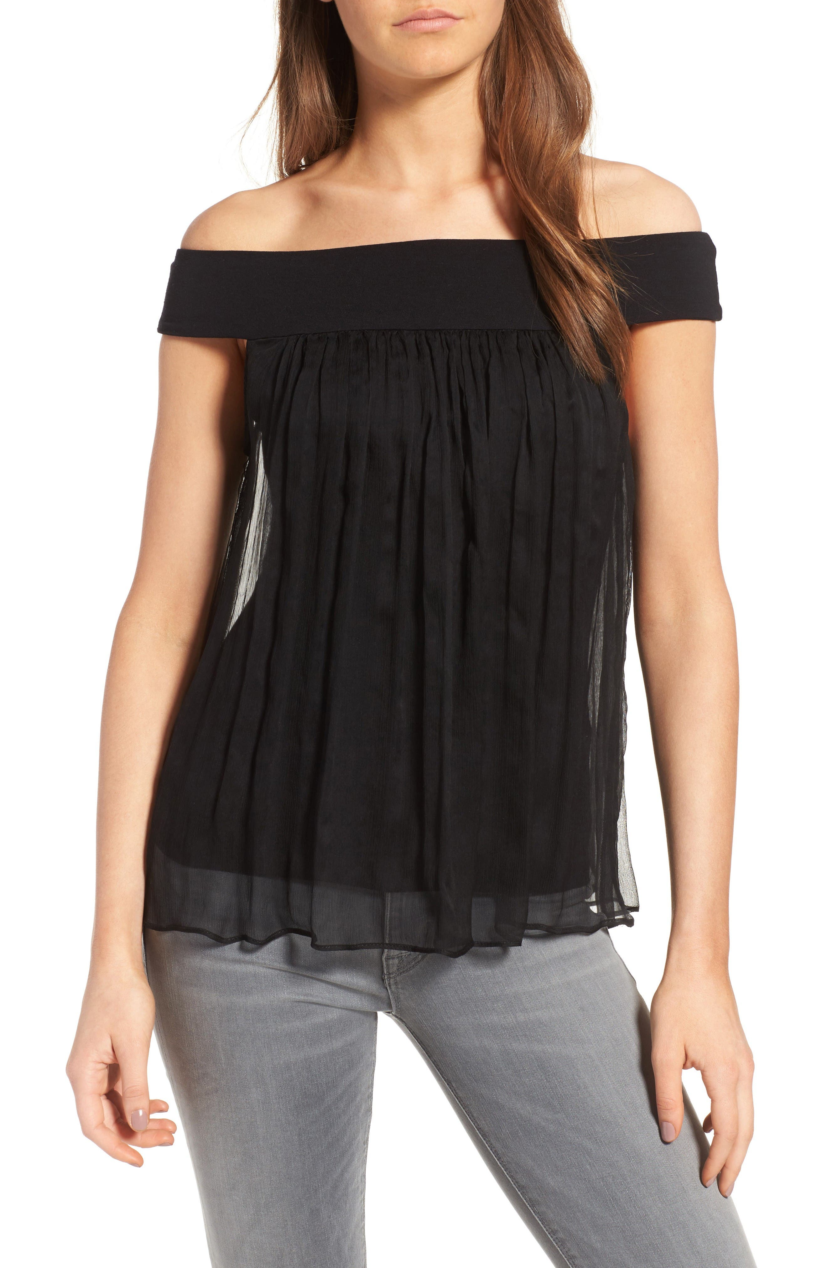 Alternate Image 1 Selected - Bailey 44 Tizhit Silk Off the Shoulder Top