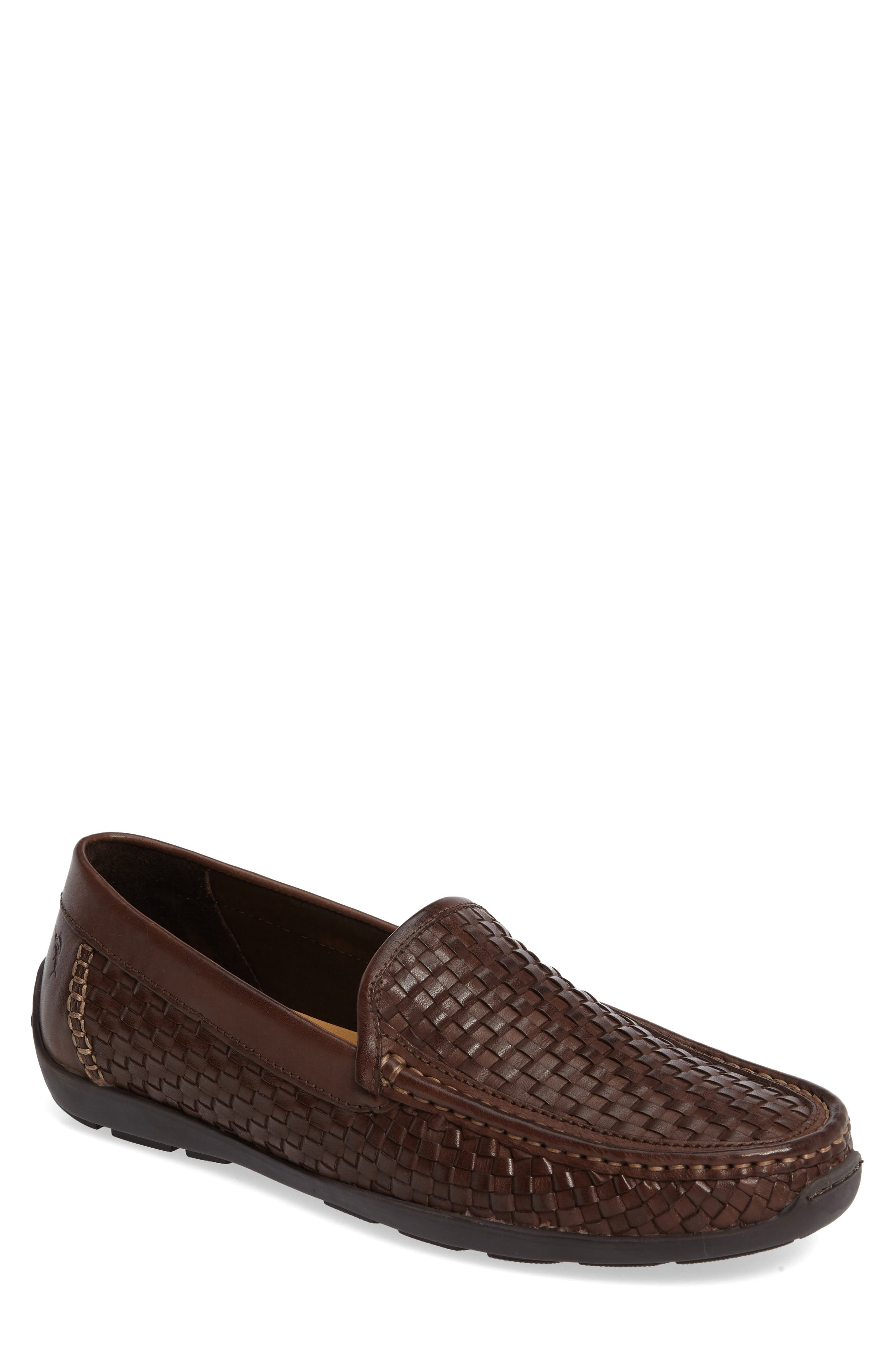 Orson Driving Shoe,                             Main thumbnail 1, color,                             Dark Brown Leather