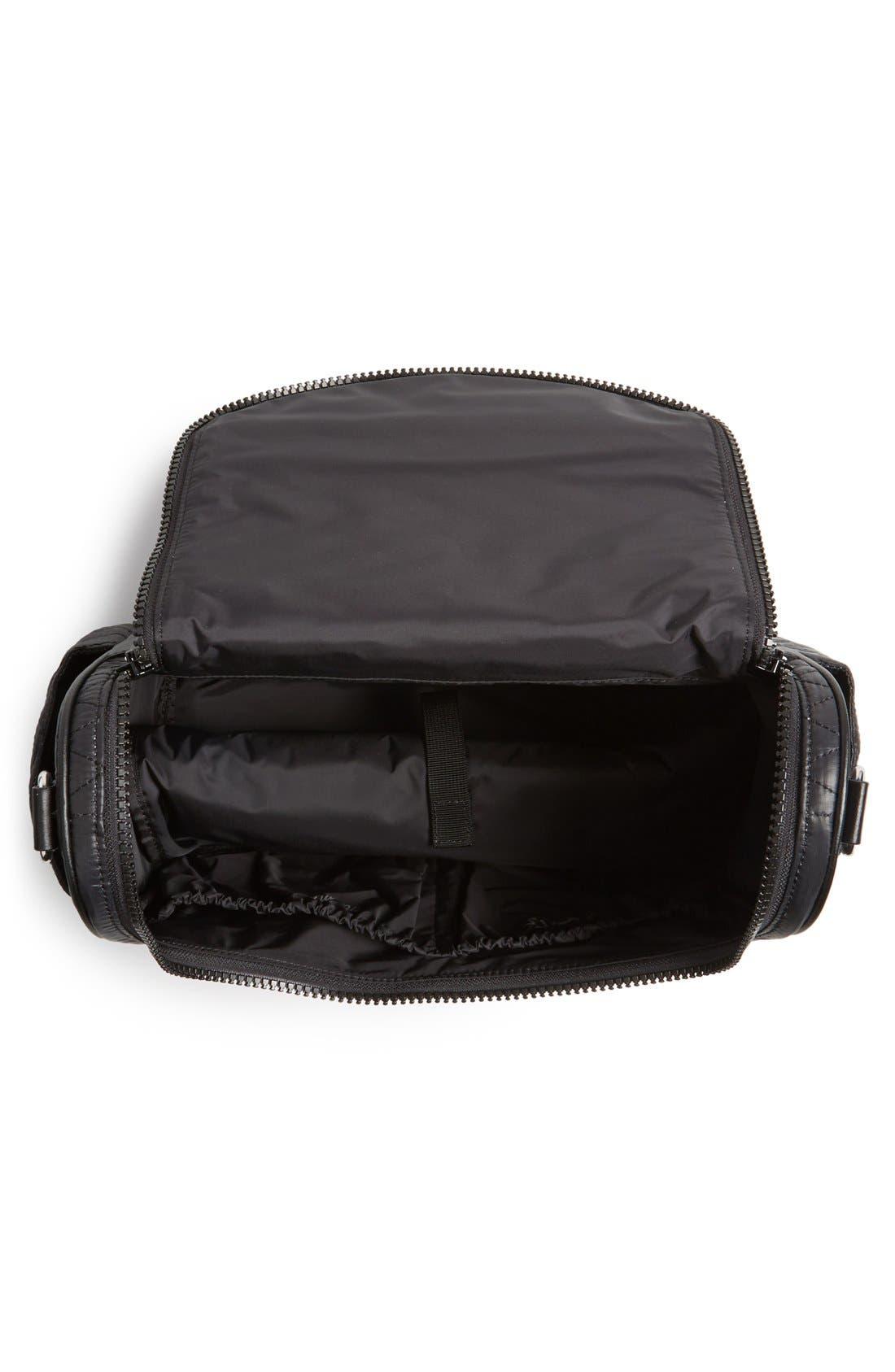'Jude' Nylon Baby Bag,                             Alternate thumbnail 3, color,                             Black