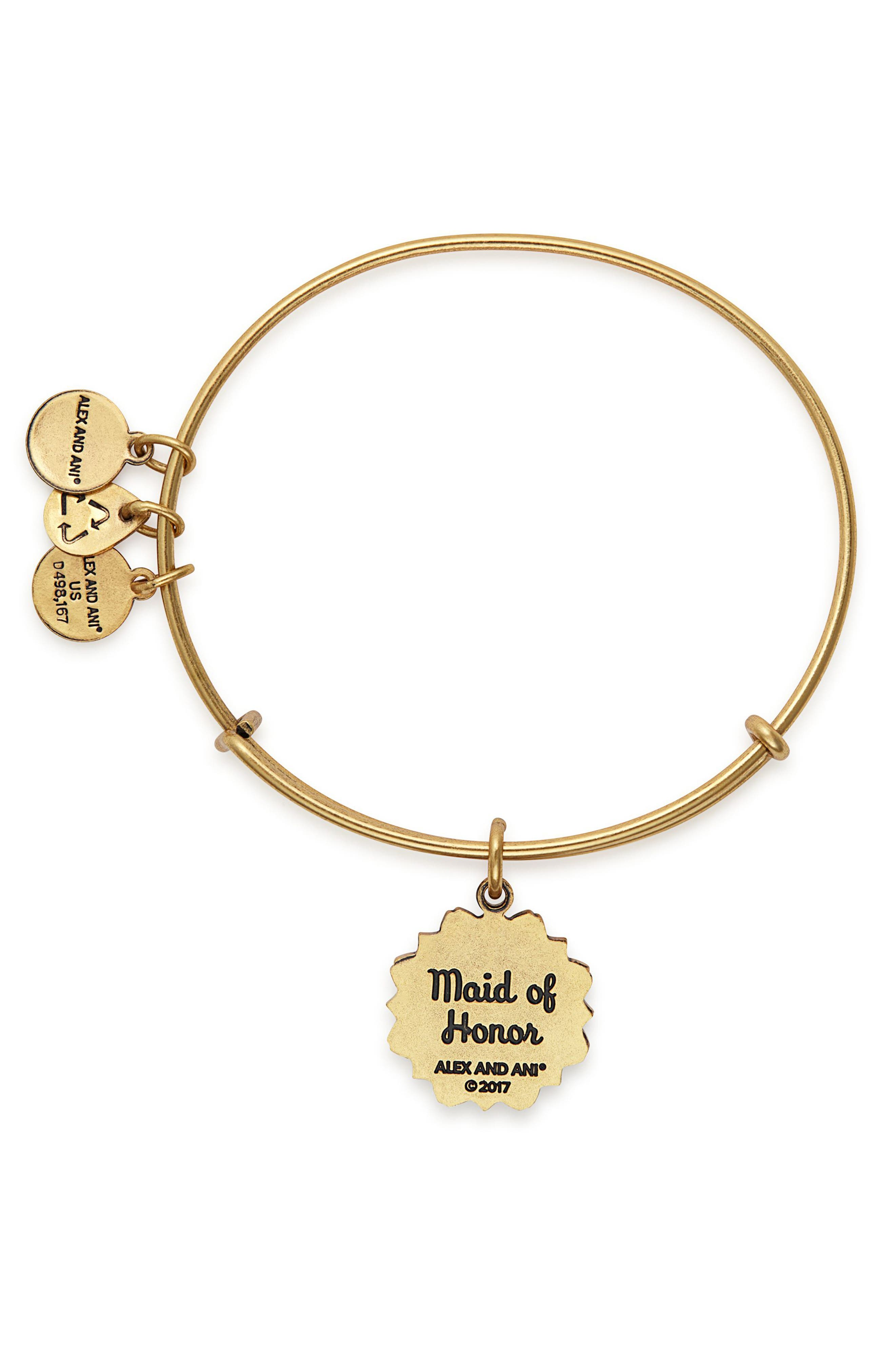 Alternate Image 2  - Alex and Ani Maid of Honor Adjustable Wire Bangle