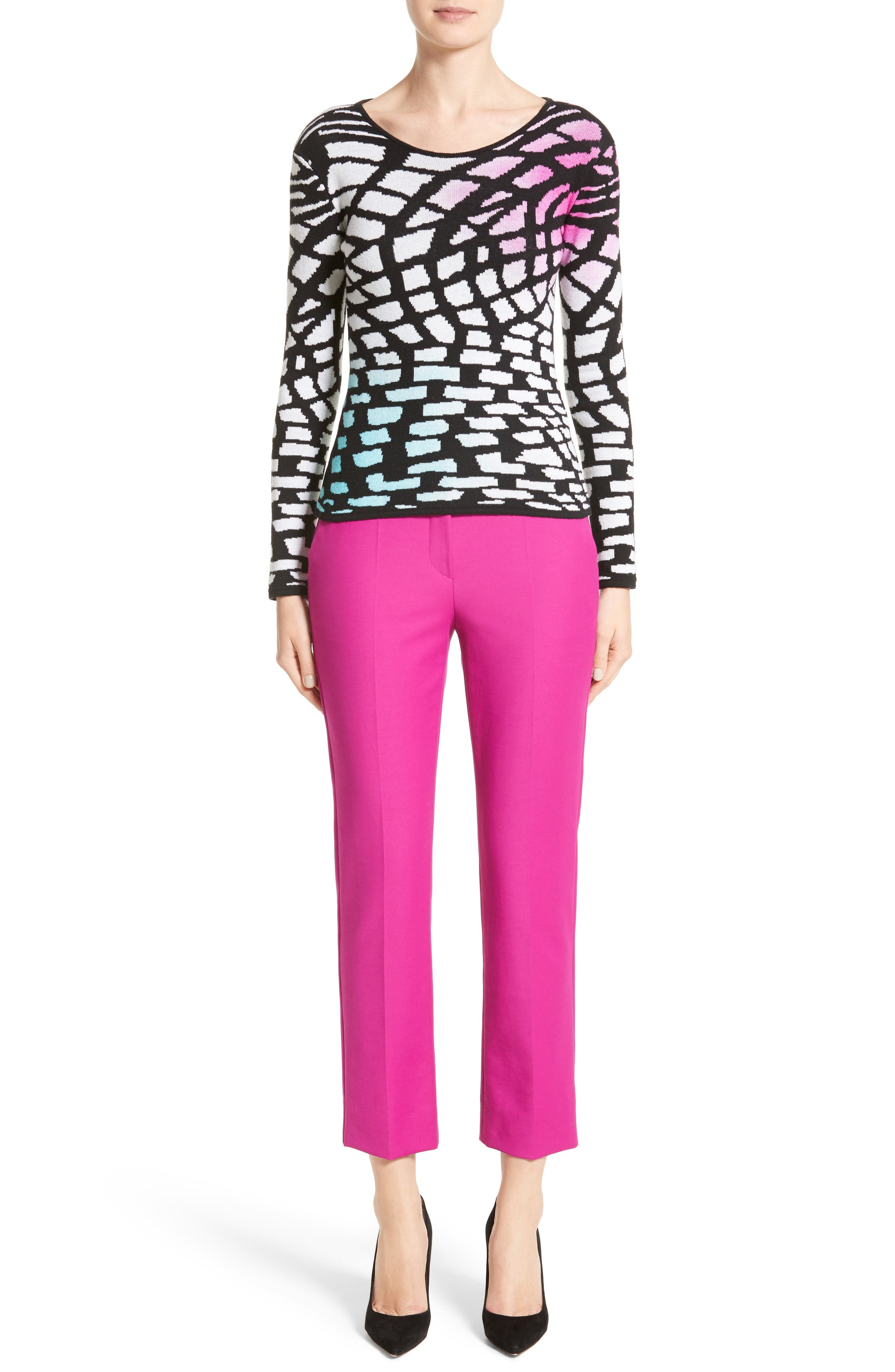Tech Cotton Blend Slim Pants,                             Alternate thumbnail 7, color,                             Orchid